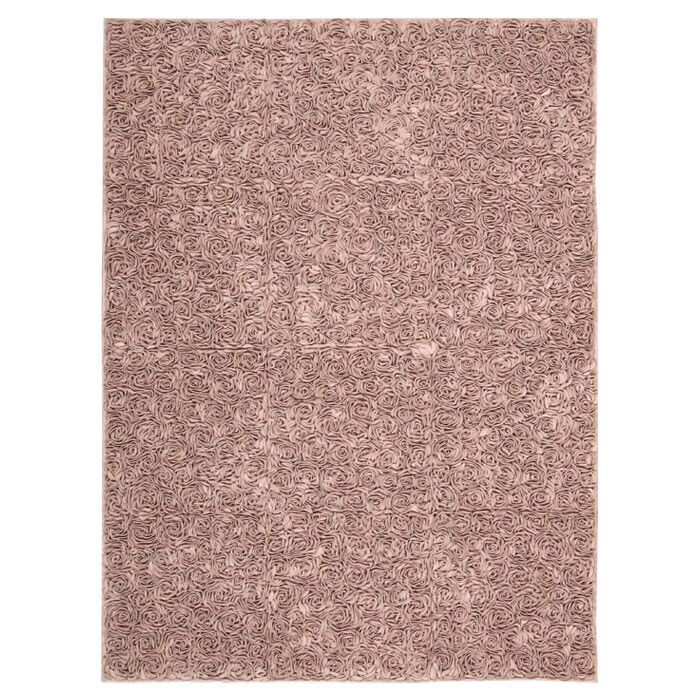 Geomar Handmade Pink Area Rug Size: Rectangle 5'6
