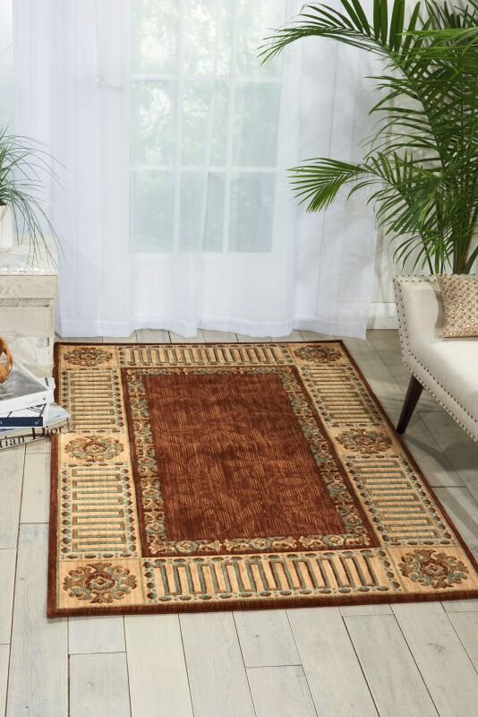 Bryn Brown Area Rug Rug Size: Rectangle 3'6