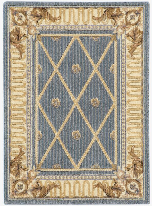Payzley Blue Area Rug Rug Size: Rectangle 2' x 2'9