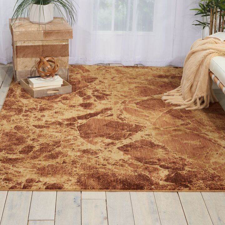 Lambert Abstract Latte Area Rug Rug Size: Round 5'6