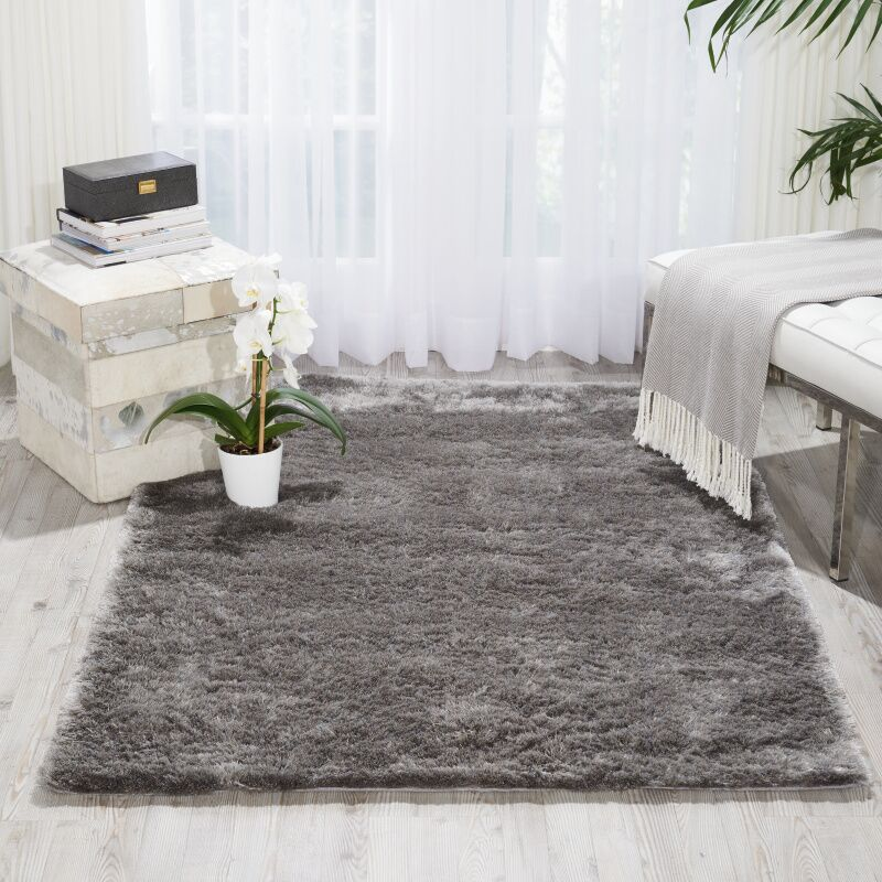 Pilipenko Hand-Tufted Silver Area Rug