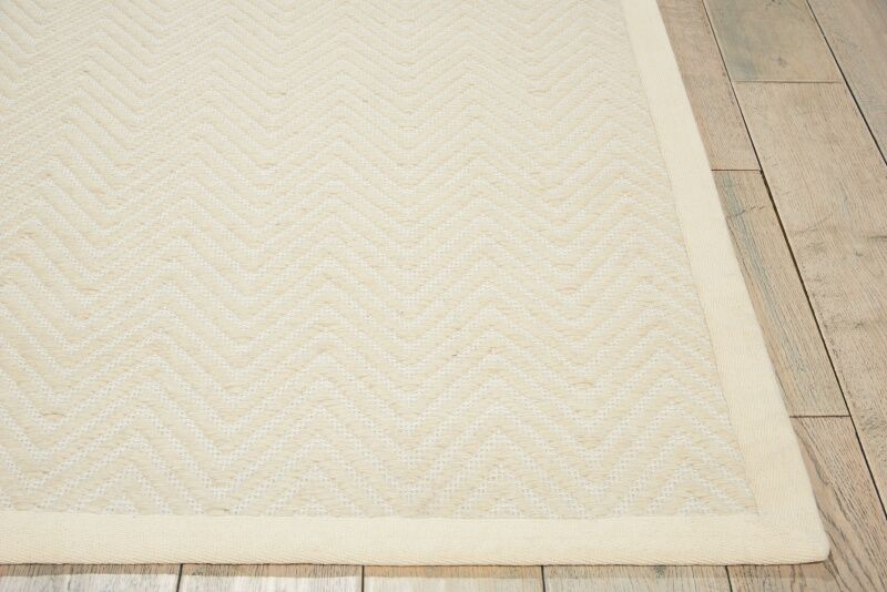 Uleena Hand-Woven Ivory Area Rug Rug Size: Rectangle 8' x 10'