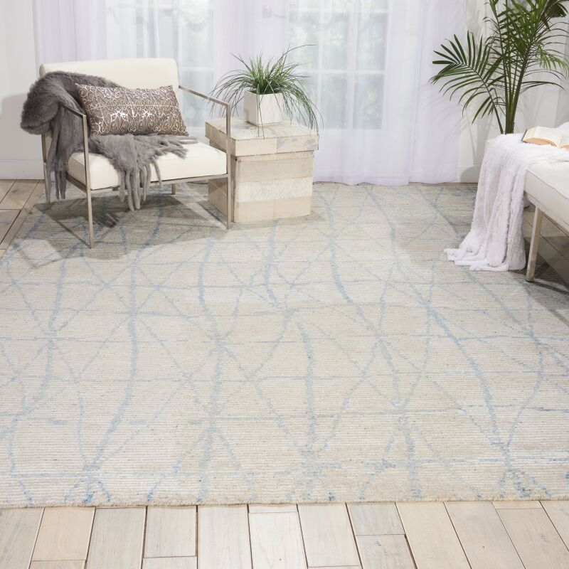 Aroon Hand-Knotted Sky Area Rug Rug Size: Rectangle 2'3