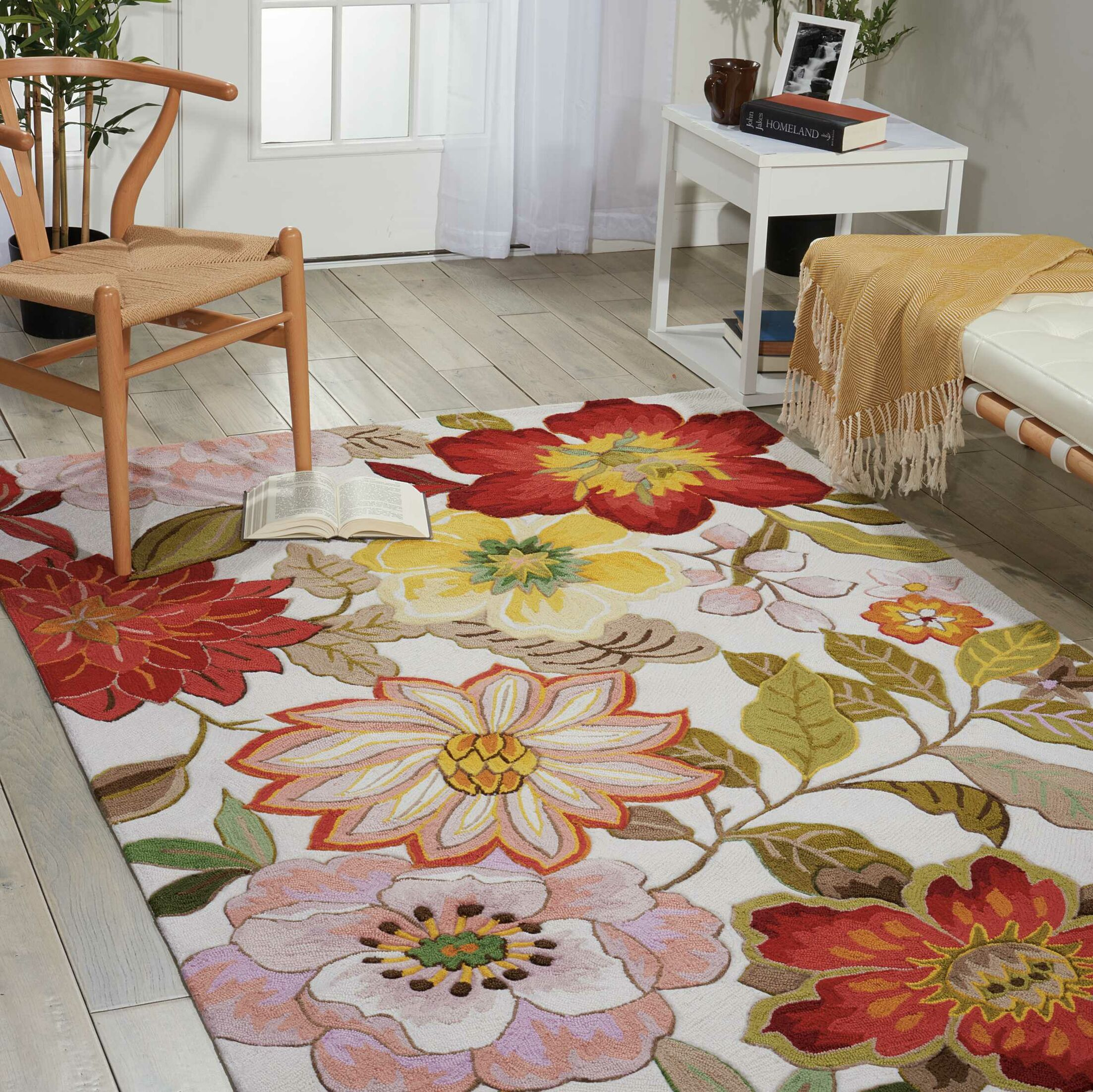 Kriszara Hand Hooked Green/Red Area Rug Rug Size: Rectangle 2'6
