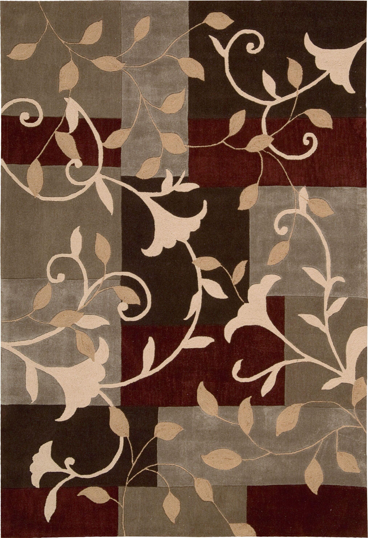 Kelsey Hand-Tufted Mocha Area Rug Rug Size: Rectangle 8' x 10'6