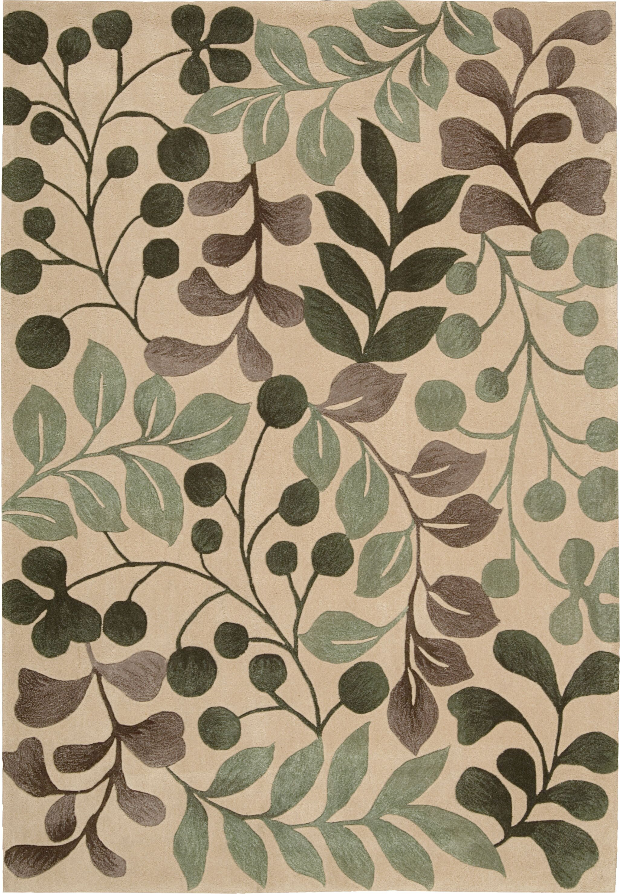 Brittni Hand-Tufted Vanilla Area Rug Rug Size: Rectangle 8' x 10'6