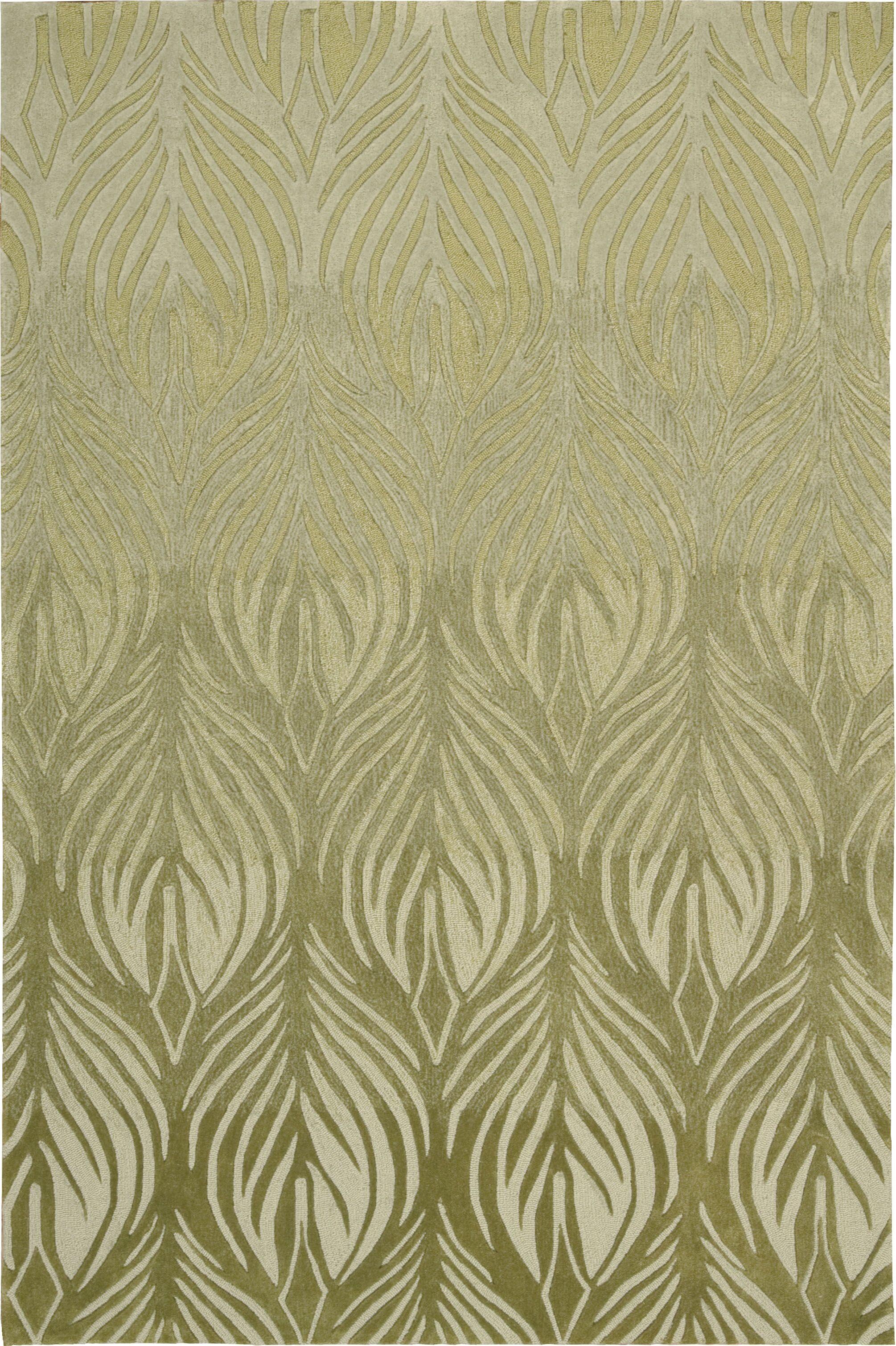 Rhames Hand-Tufted Green Area Rug Rug Size: Rectangle 5' x 7'6