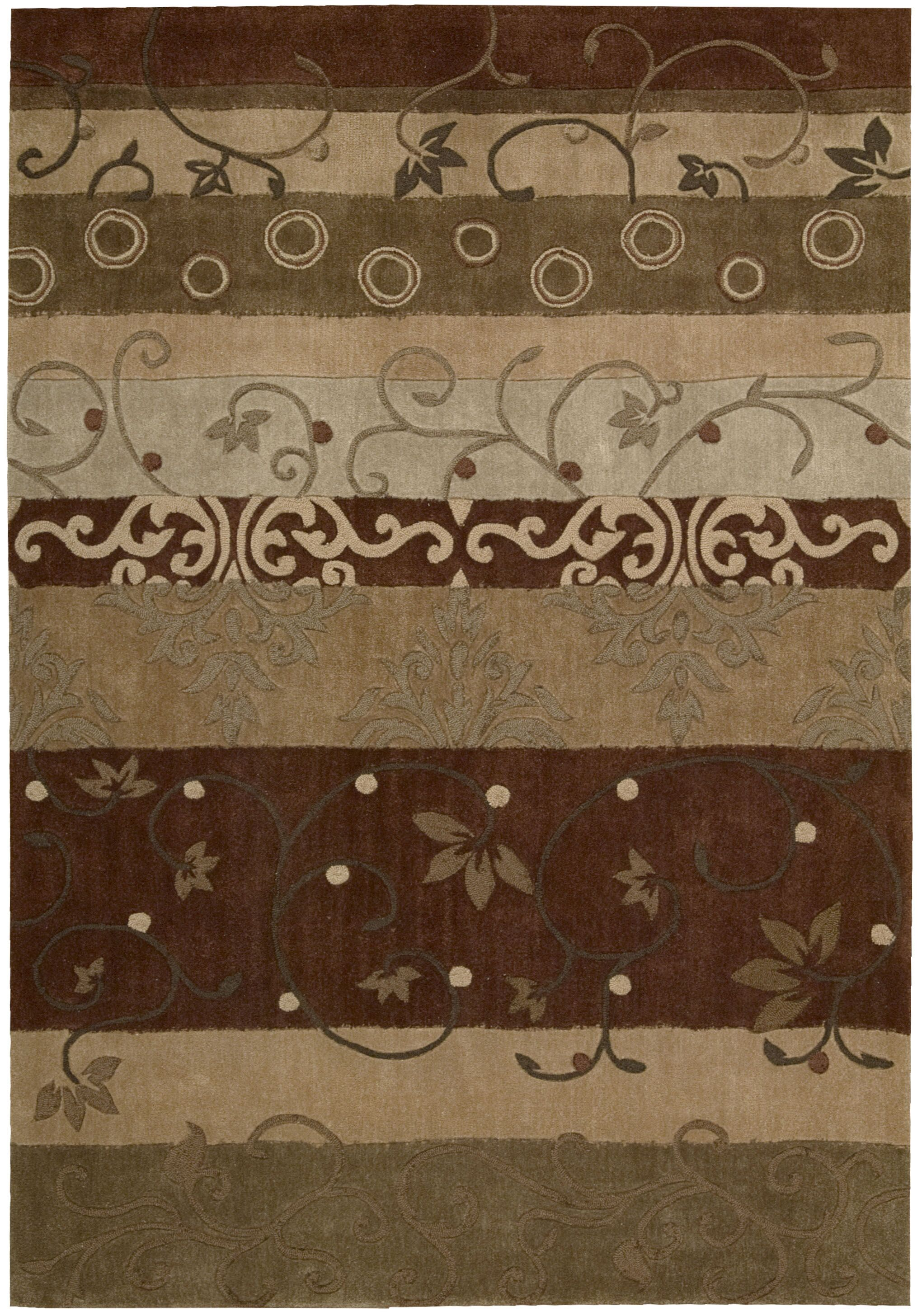 Brittni Hand-Tufted Beige/Brown Area Rug Rug Size: Rectangle 5' x 7'6