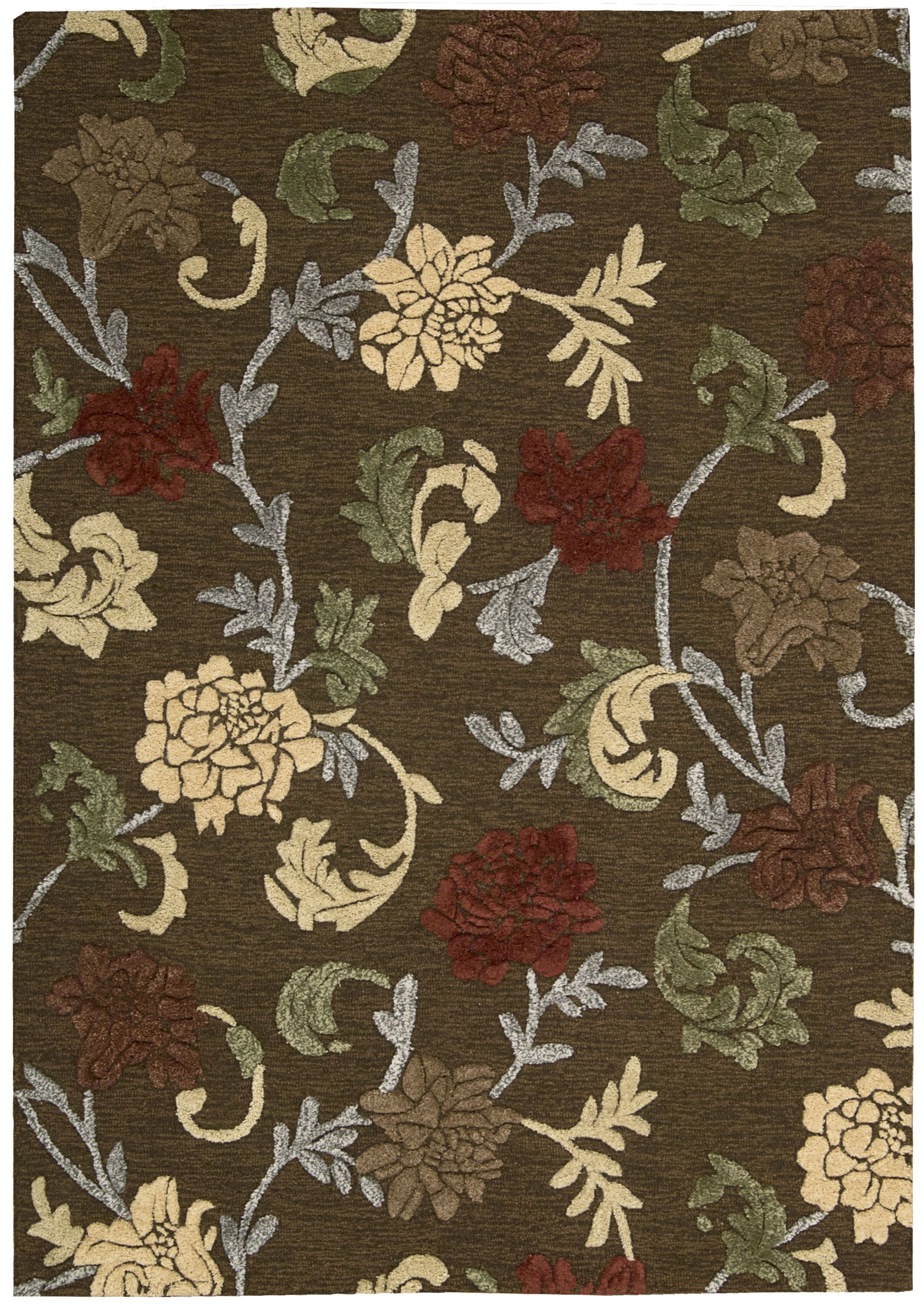 Lymon Hand-Tufted Brown Area Rug Rug Size: Rectangle 5'3