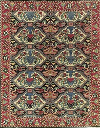 Pierson Hand-Woven Red/Green Area Rug Rug Size: Rectangle 7'10