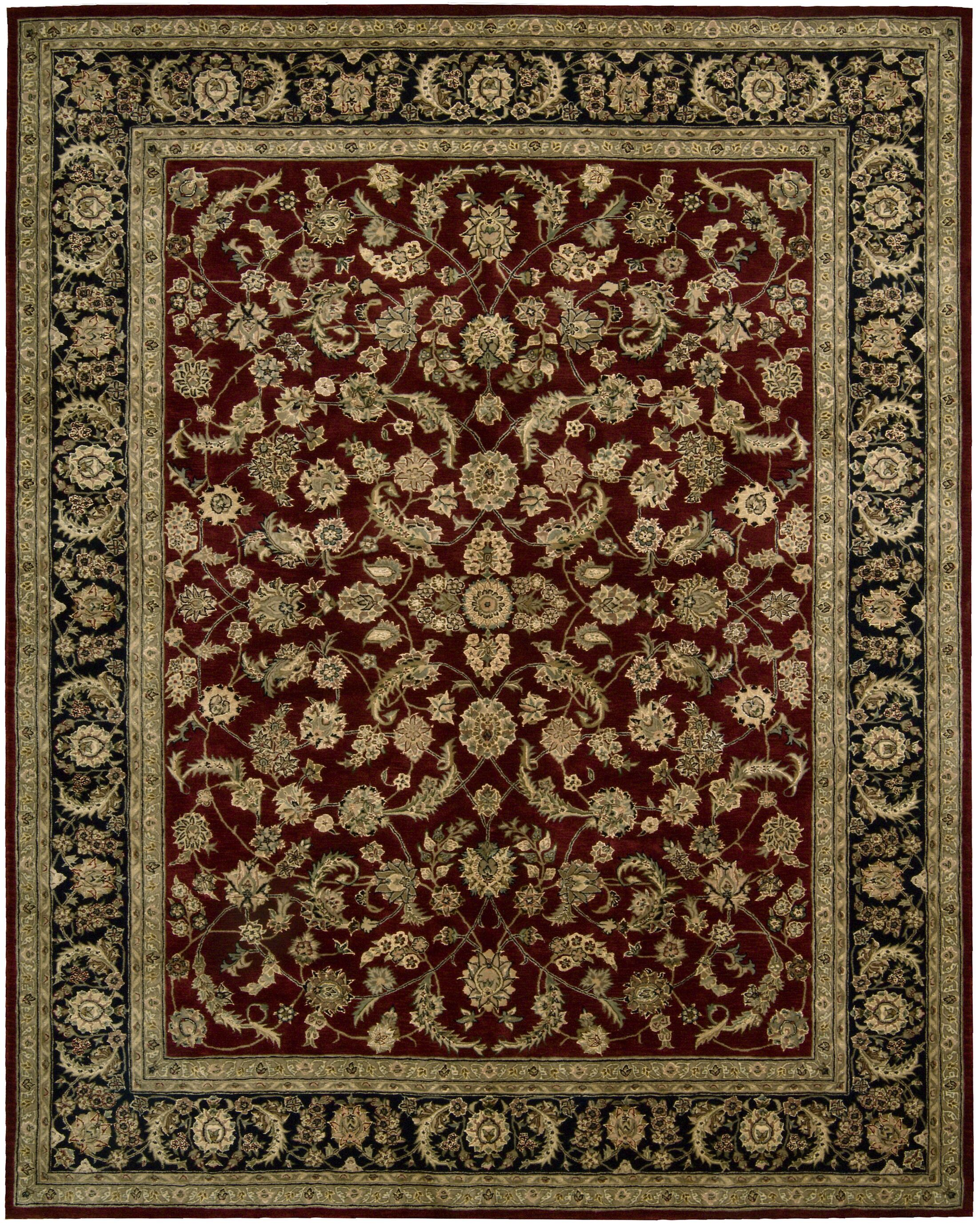 Ellerswick Hand Woven Wool Red/Green Indoor Area Rug Rug Size: Rectangle 5'6