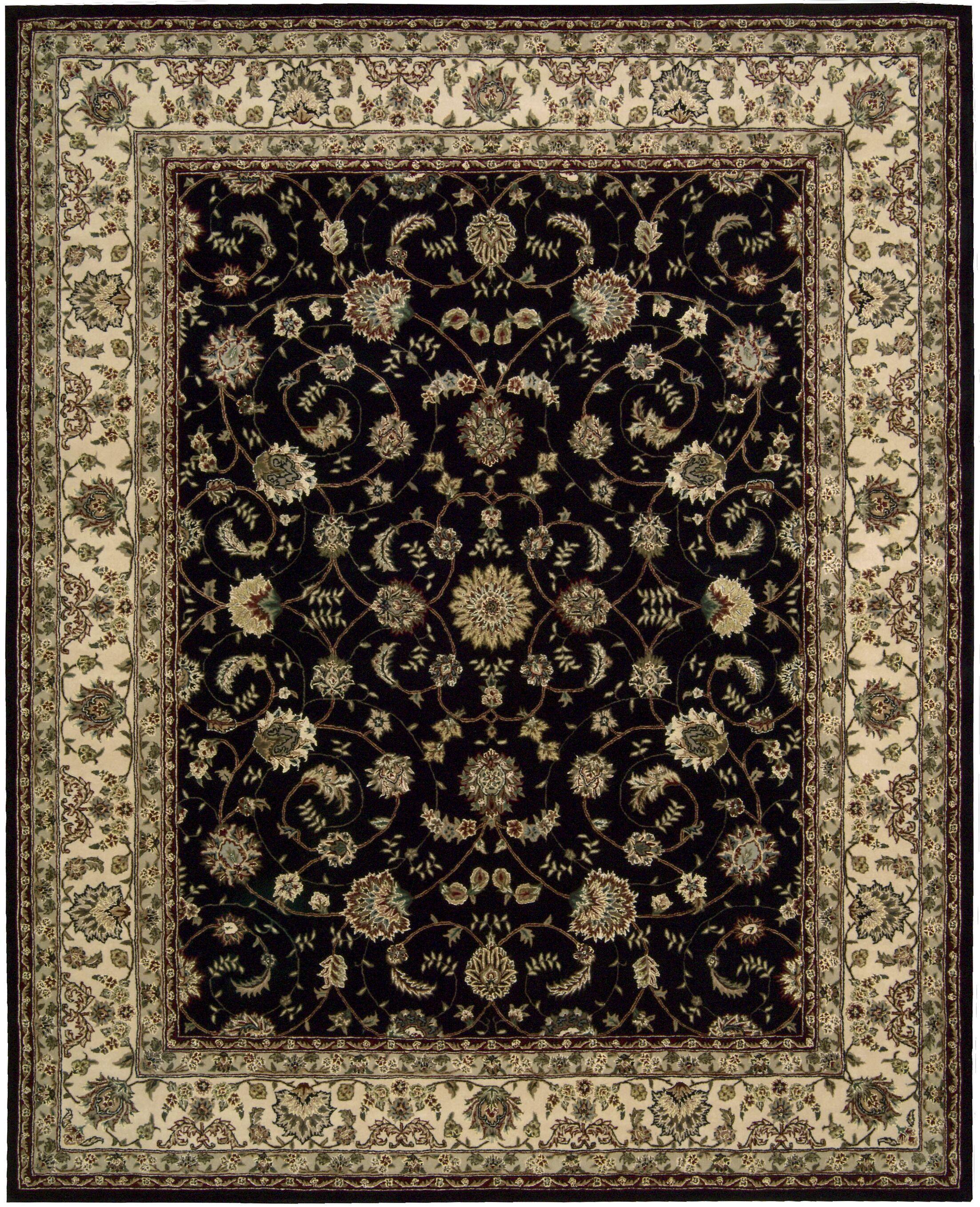Ellerswick Hand Woven Wool Beige/Black Indoor Area Rug Rug Size: Rectangle 5'6
