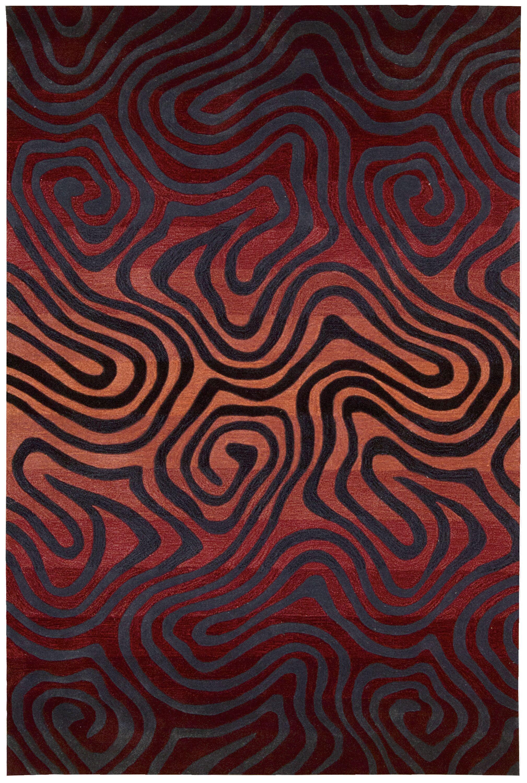 Gemini Hand-Tufted Sangria Area Rug Rug Size: Rectangle 7'3