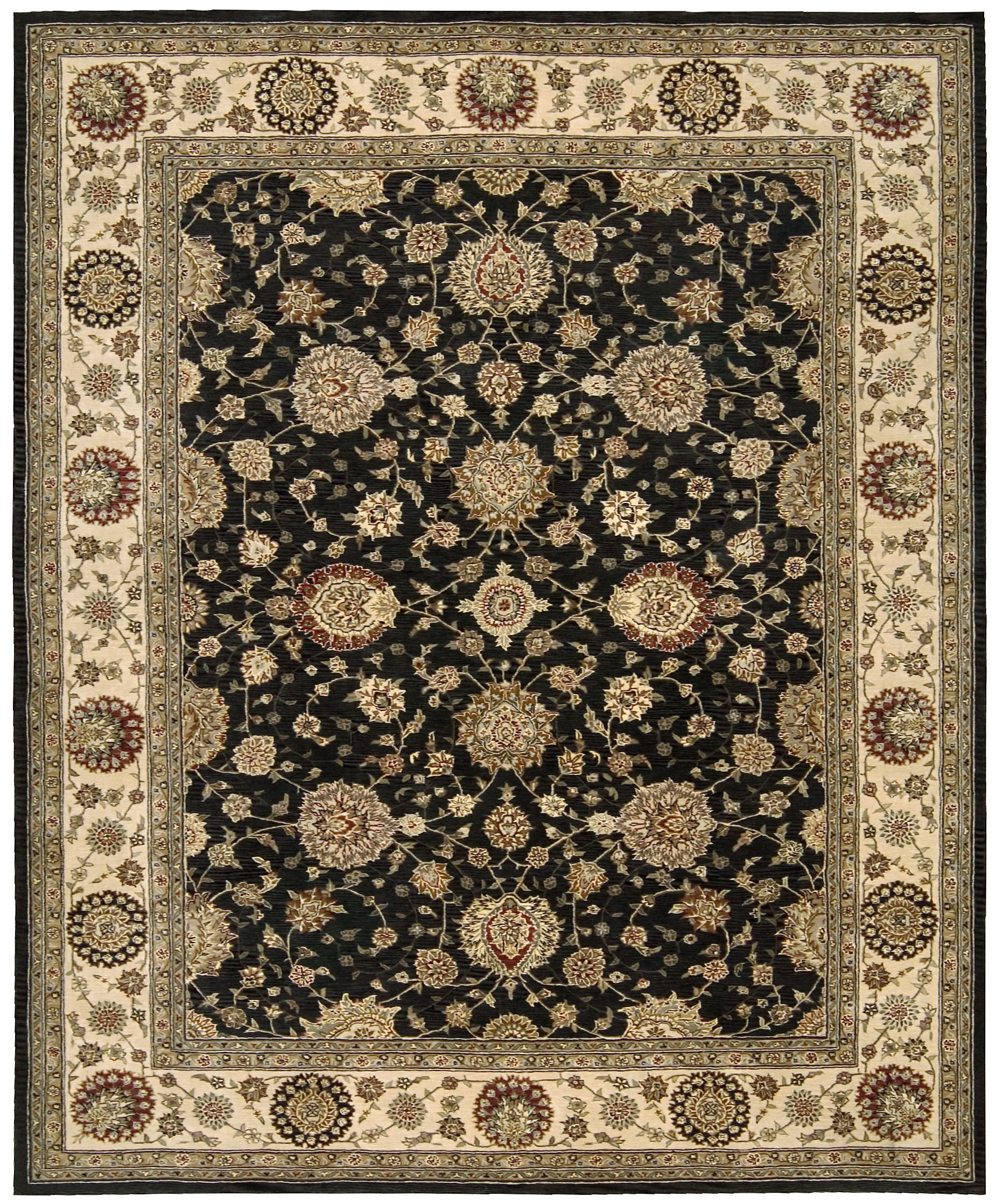 Ellerswick Hand Woven Wool Midnight Indoor Area Rug Rug Size: Rectangle 8'6