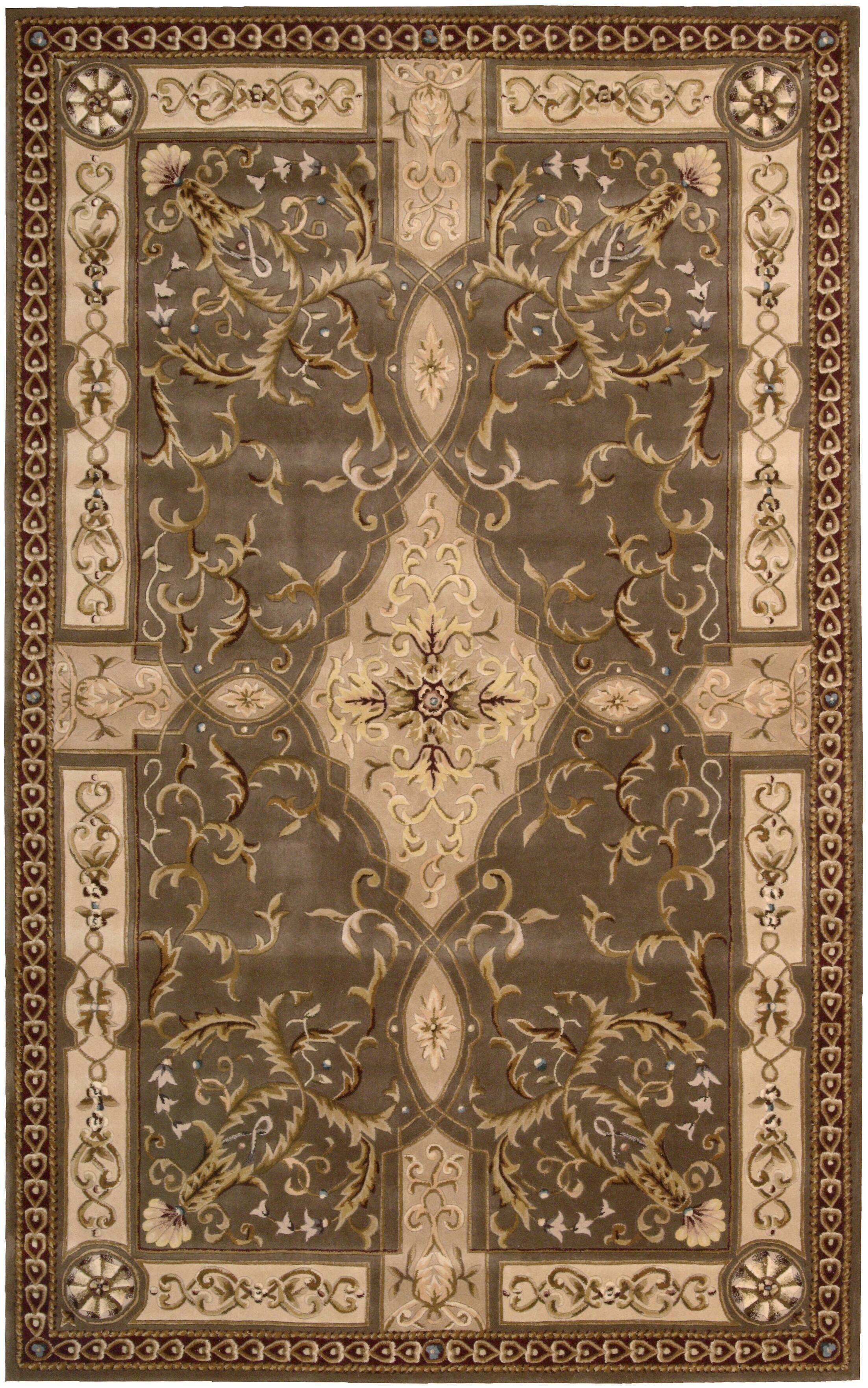 Brownlee Oriental Brown/Tan Area Rug Rug Size: Rectangle 7'6