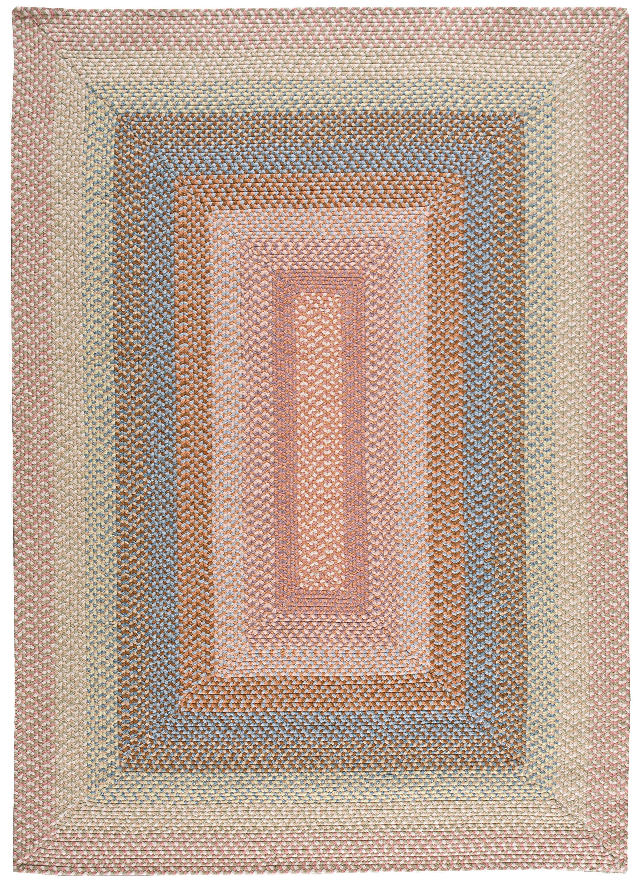 Dray Hand-Woven Coral Area Rug Rug Size: Oval Runner 2'3