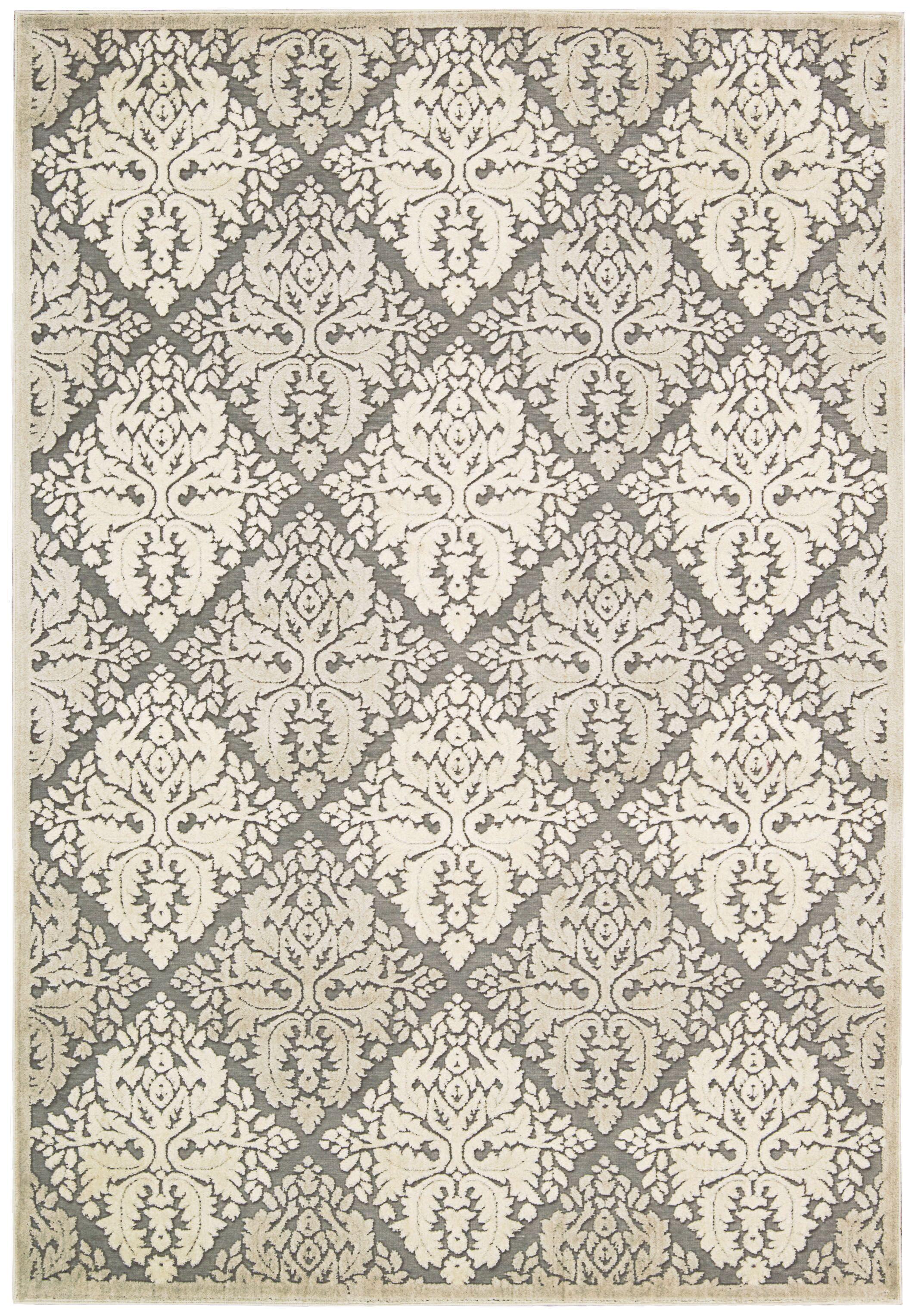 Talanna White Geometric Area Rug Rug Size: Rectangle 3'6