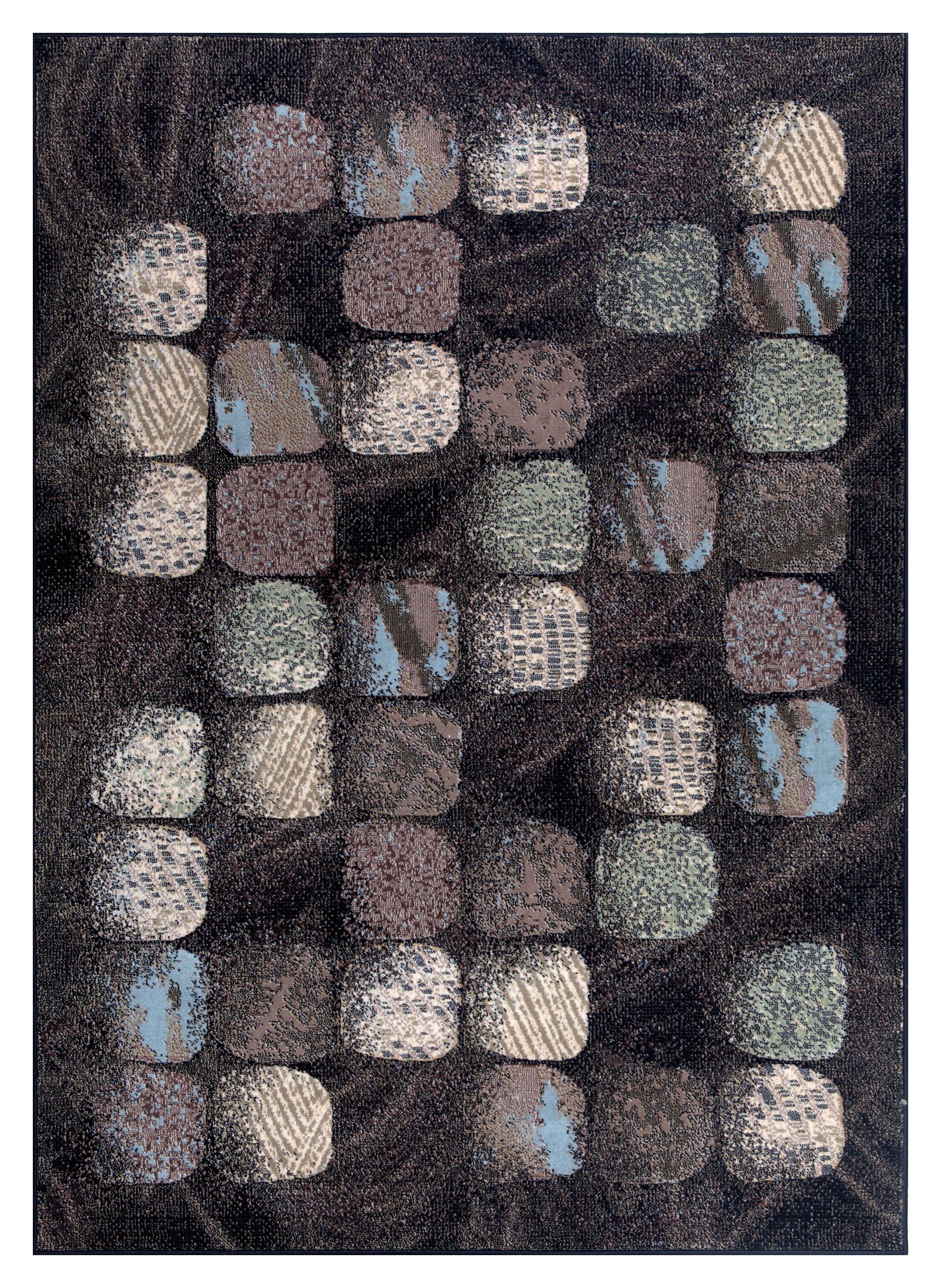 Duke Black/Brown Area Rug Rug Size: Rectangle 7'10