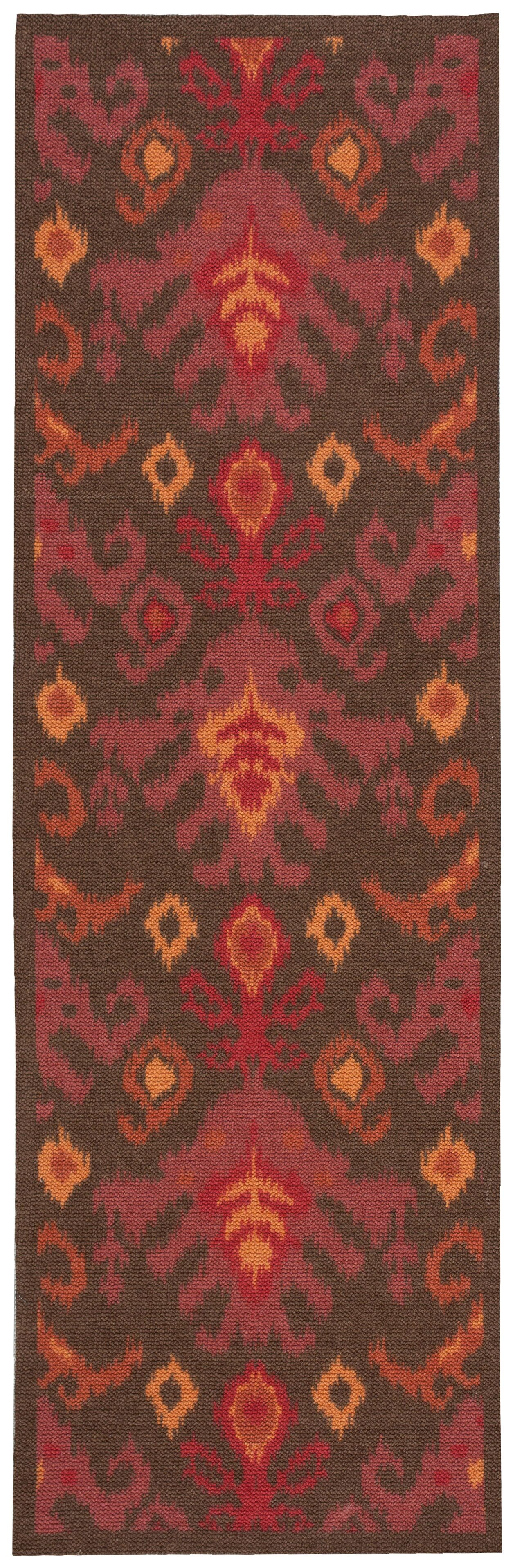 Appian Brown/Red Area Rug Rug Size: Runner 2'6
