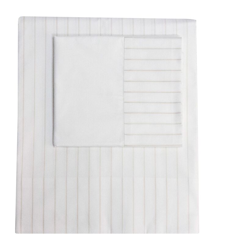 Henry Hill Striped Pillowcase Size: King, Color: Limestone