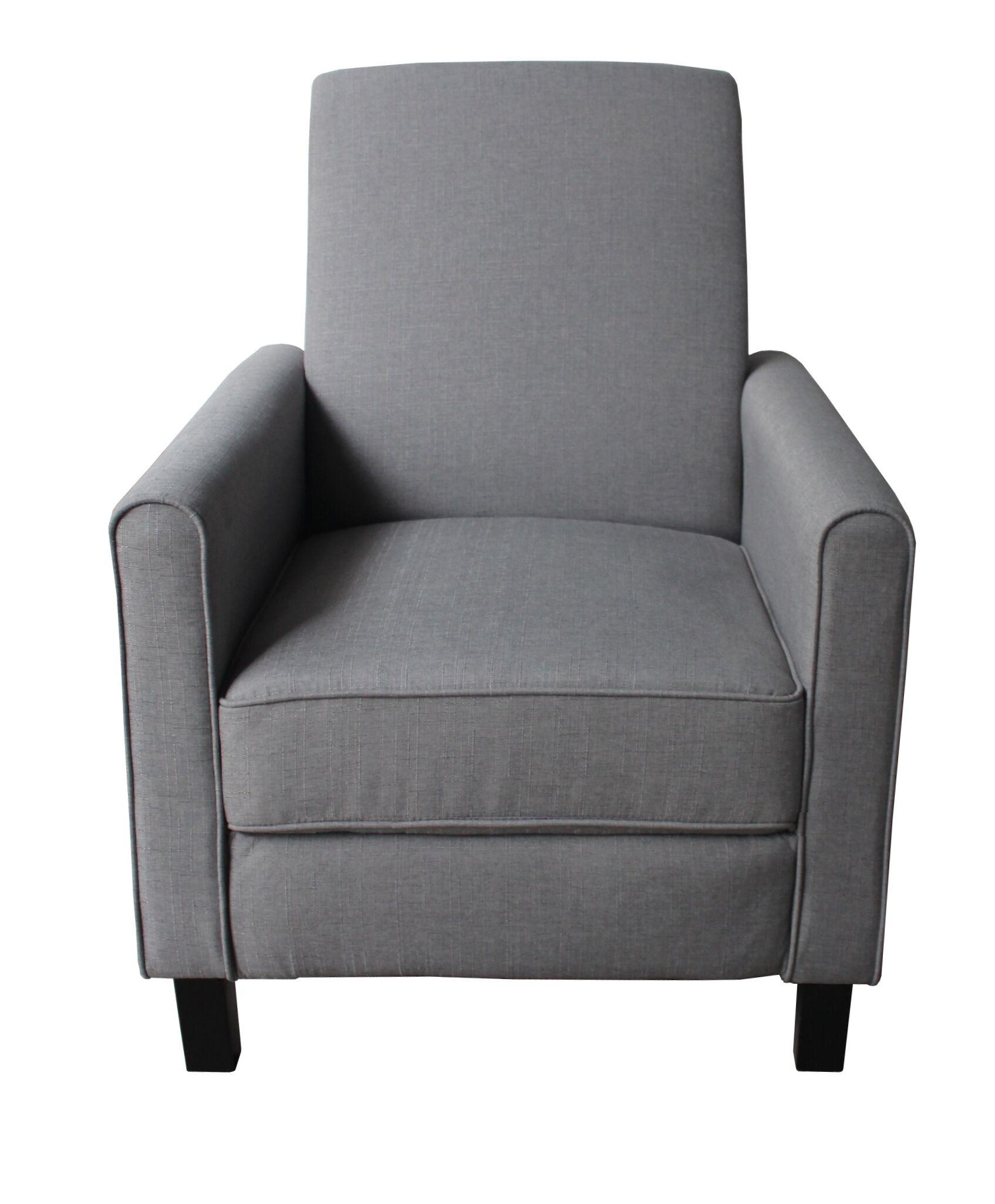 Fabric Manual Recliner Color: Dark Gray