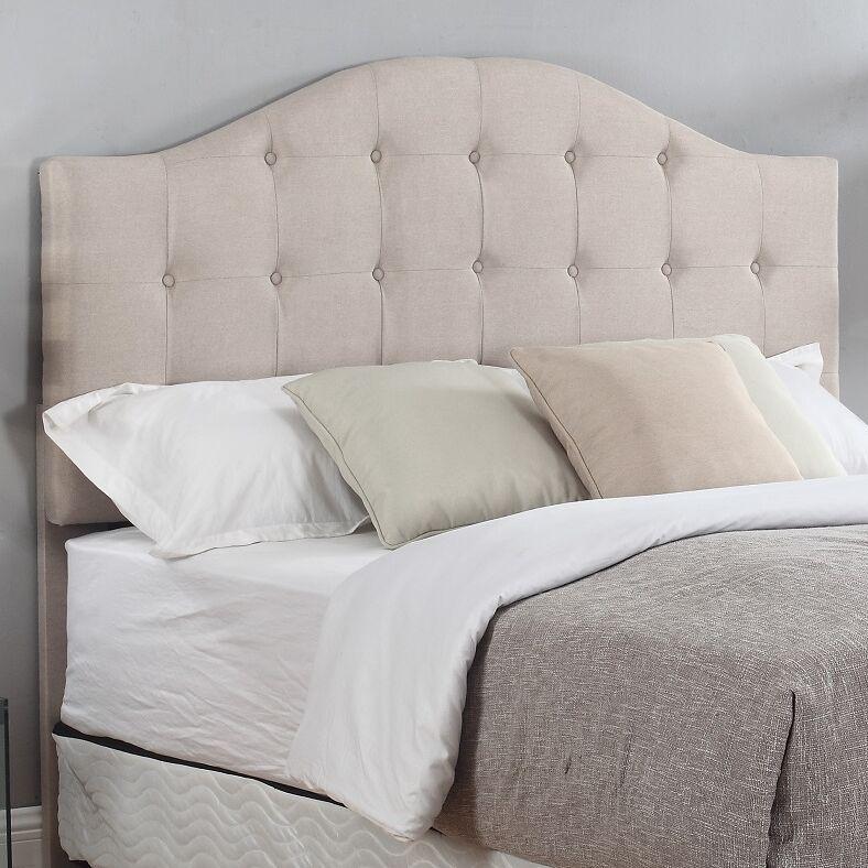 Seger Upholstered Panel Headboard Color: Beige