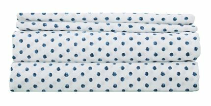 300 Thread Count Cotton Sheet Set Size: Full, Color: Blue