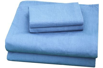 300 Thread Count Cotton Sheet Set Size: California King, Color: Blue