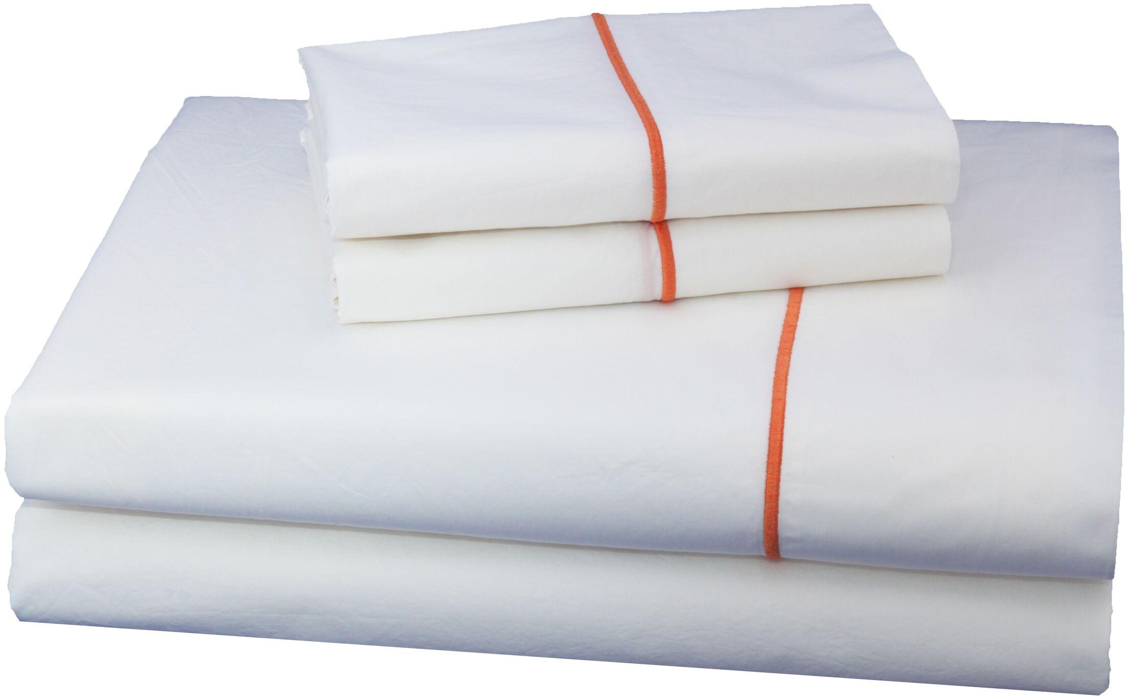 Luxurious 300 Thread Count Cotton Sheet Set Size: California King, Color: Orange