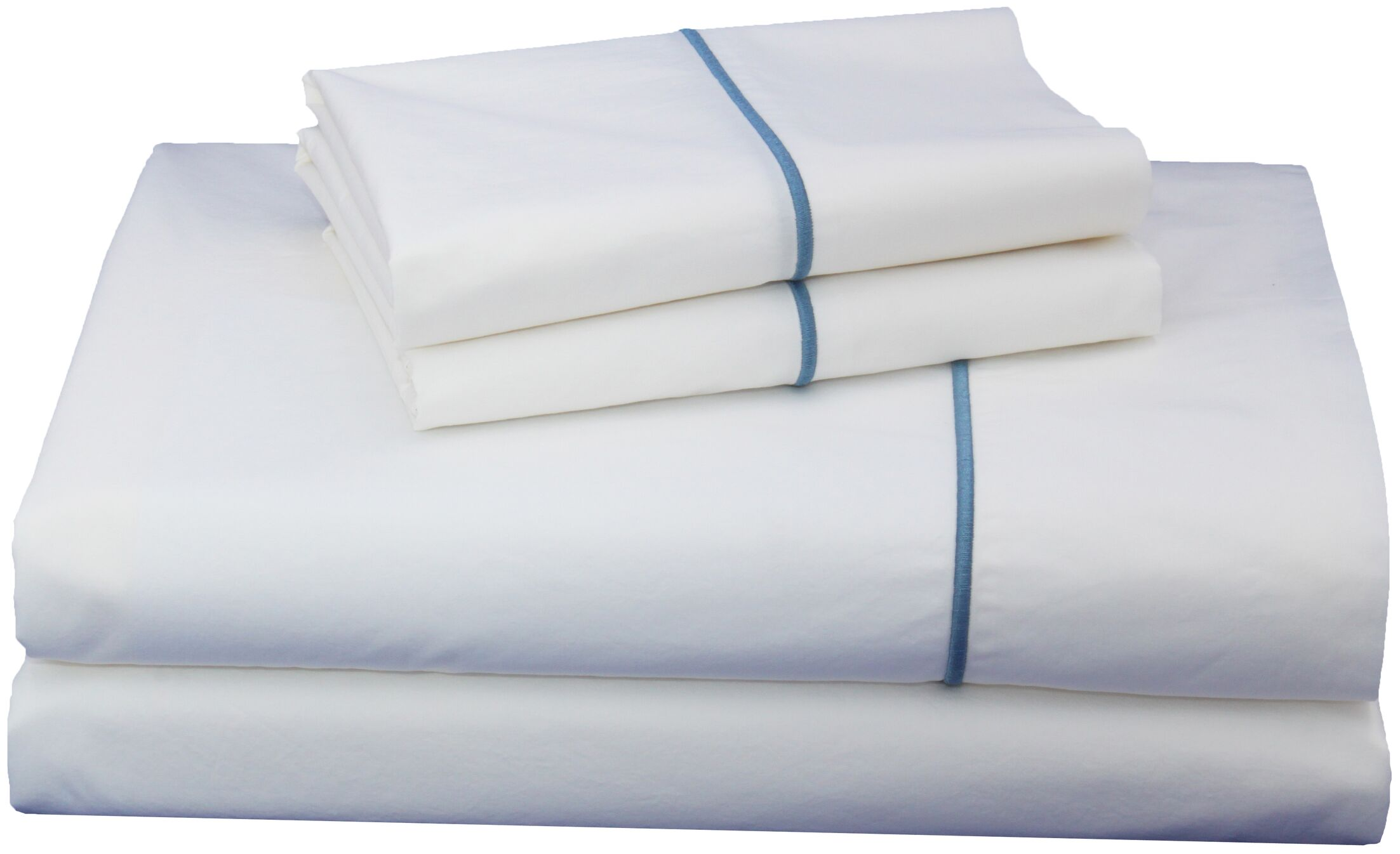 Luxurious 300 Thread Count Cotton Sheet Set Size: Twin XL, Color: Blue
