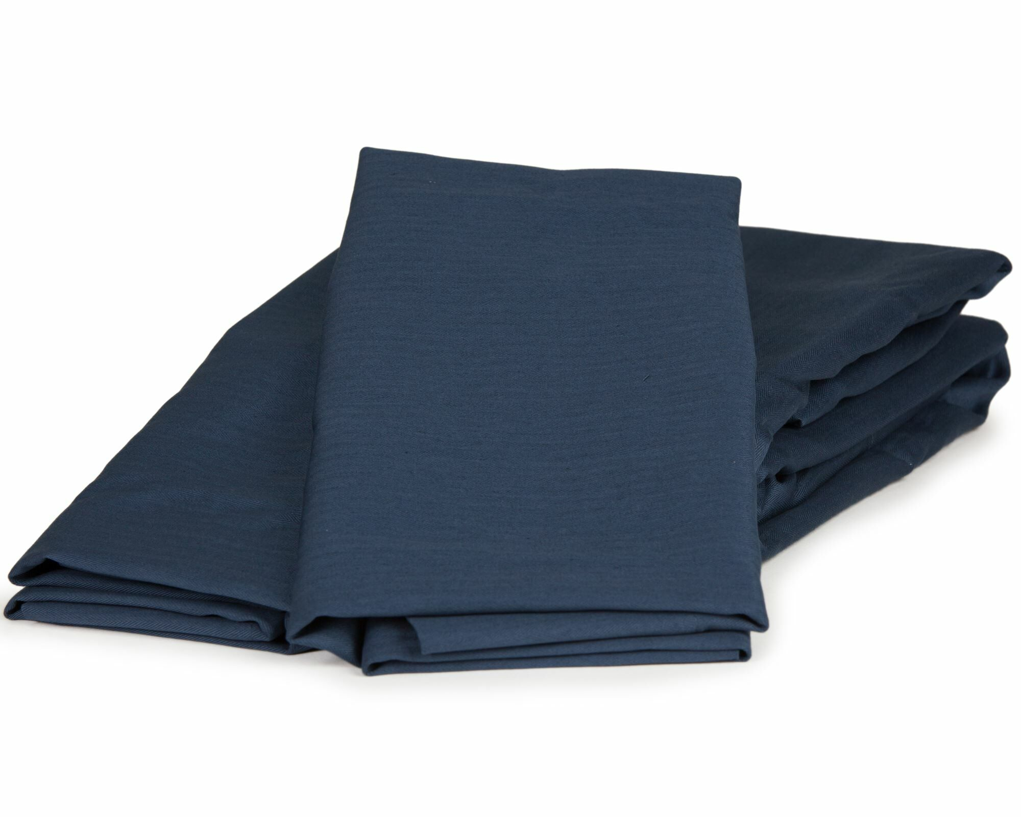Herringbone Solid 100% Cotton Sheet Set Size: Full, Color: Navy