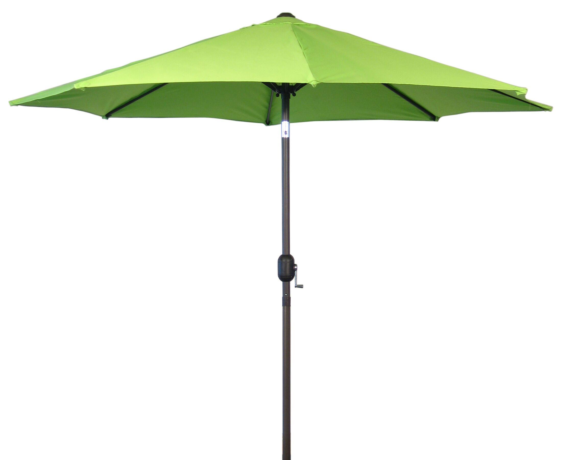 9' Market Umbrella Fabric: Lime Green