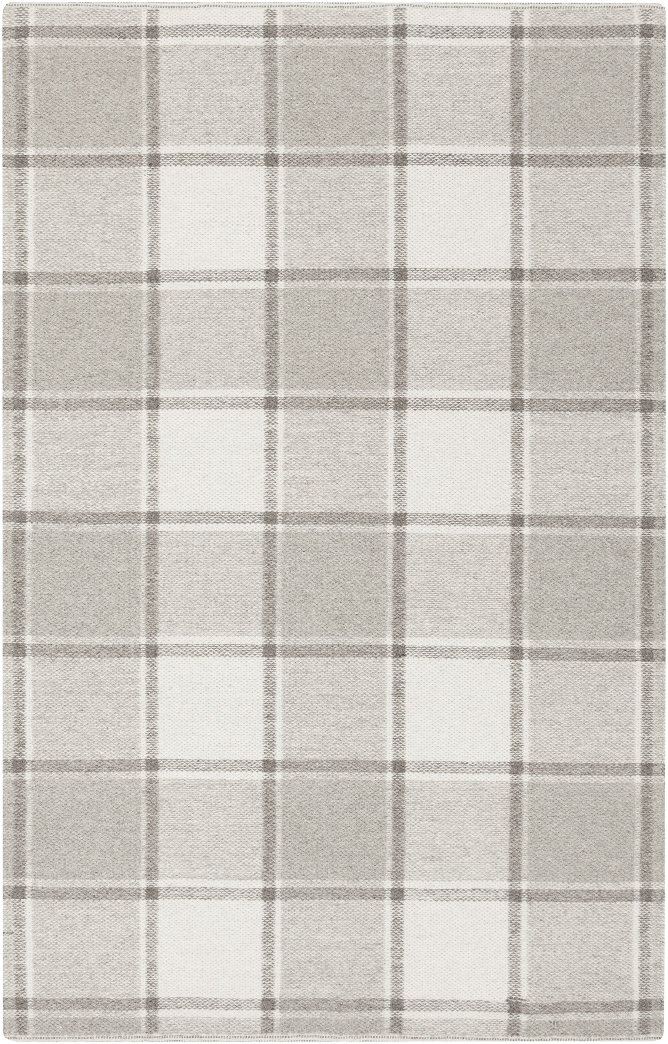 Meyers Hand-Woven Gray Area Rug Rug Size: Rectangle 4' x 6'
