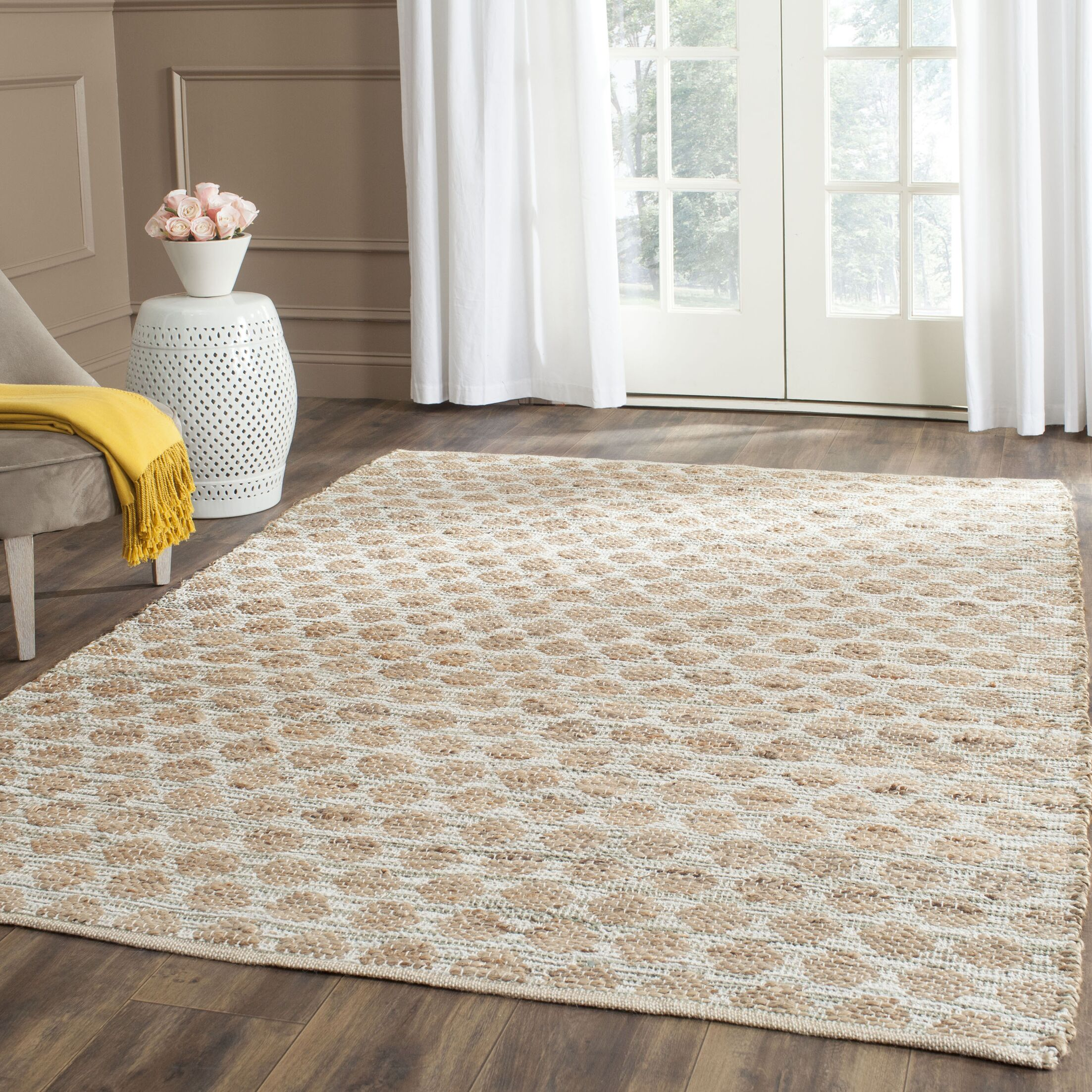 Zap Hand-Woven Brown Area Rug Rug Size: Rectangle 4' x 6'
