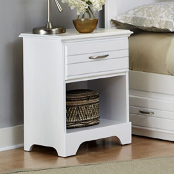 Della Wood 1 Drawer Nightstand Color: White