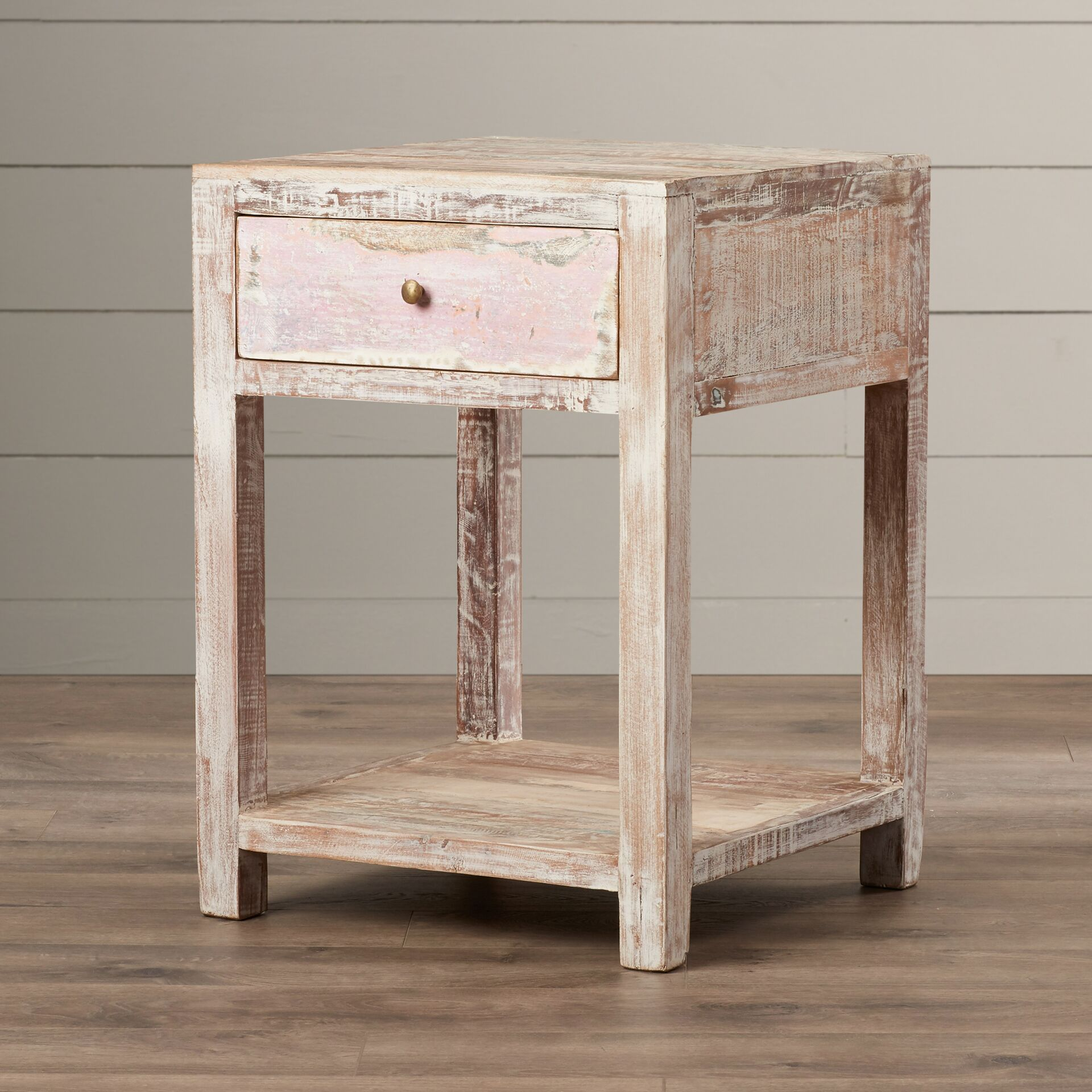 Posey Stripped Teak End Table