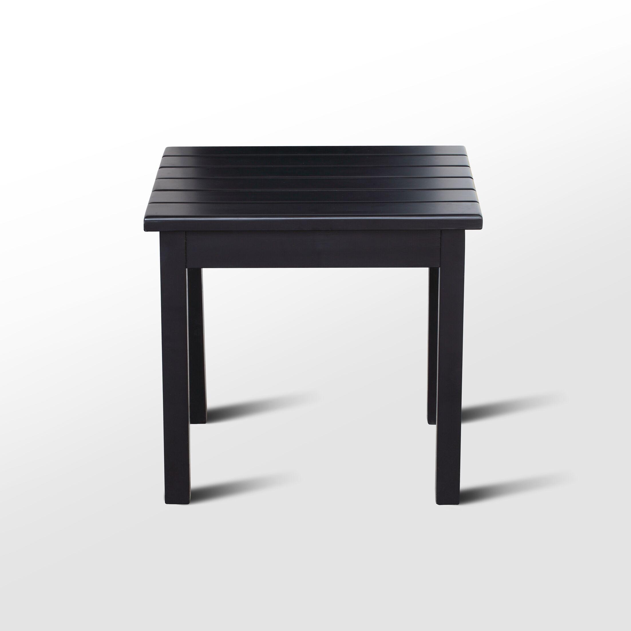 Franklin Springs Porch End Table Color: Black