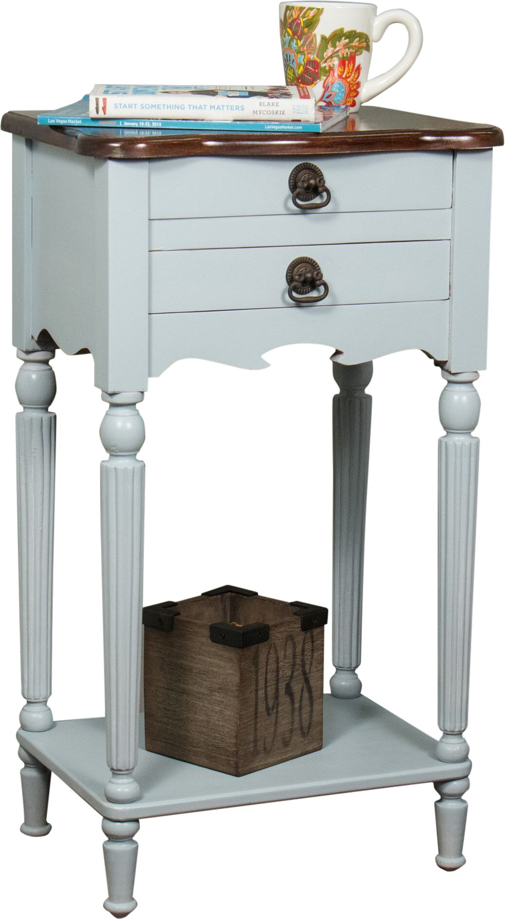 Lewisville End Table Color: Gray / Light Brown