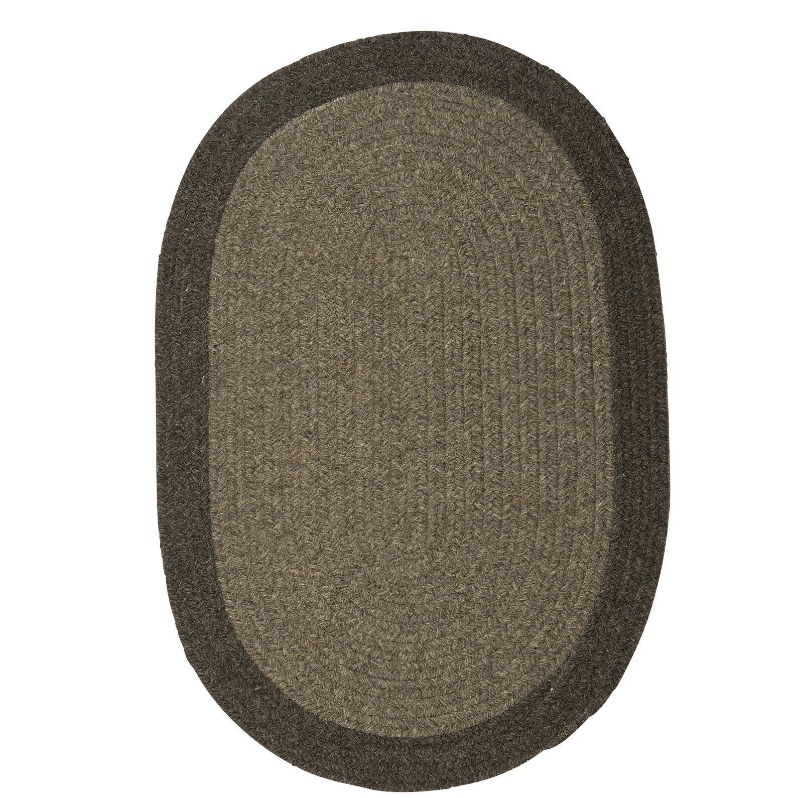 Rupert Brown Area Rug Rug Size: Oval 2' x 4'