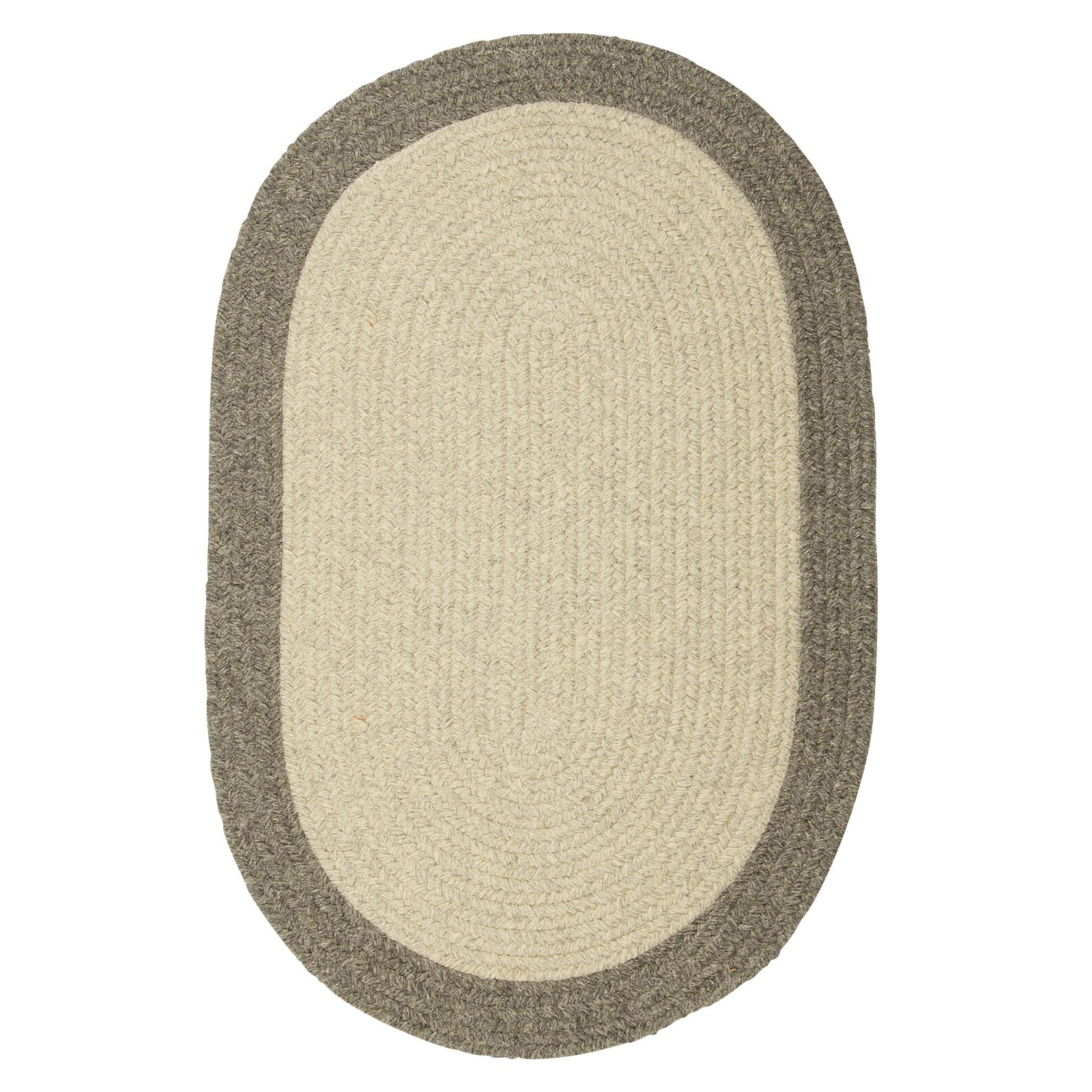 Rupert Gray Area Rug Rug Size: Oval 2' x 8'
