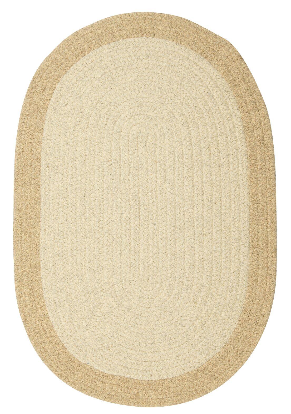 Rupert Linen Area Rug Rug Size: Oval 12' x 15'