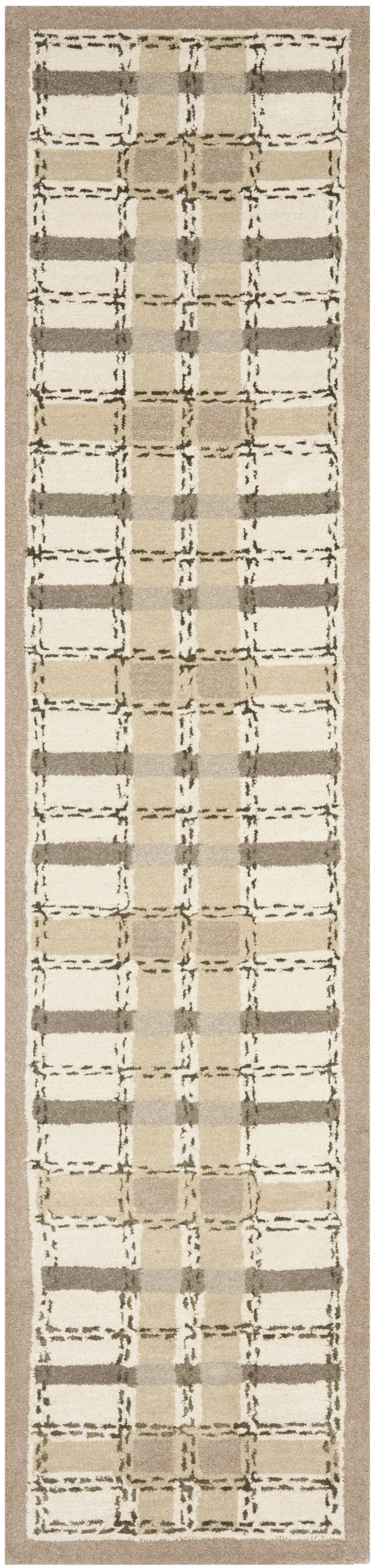 Colorweave Plaid Hand-Tufted Sharkey Gray Area Rug Rug Size: Runner 2'3