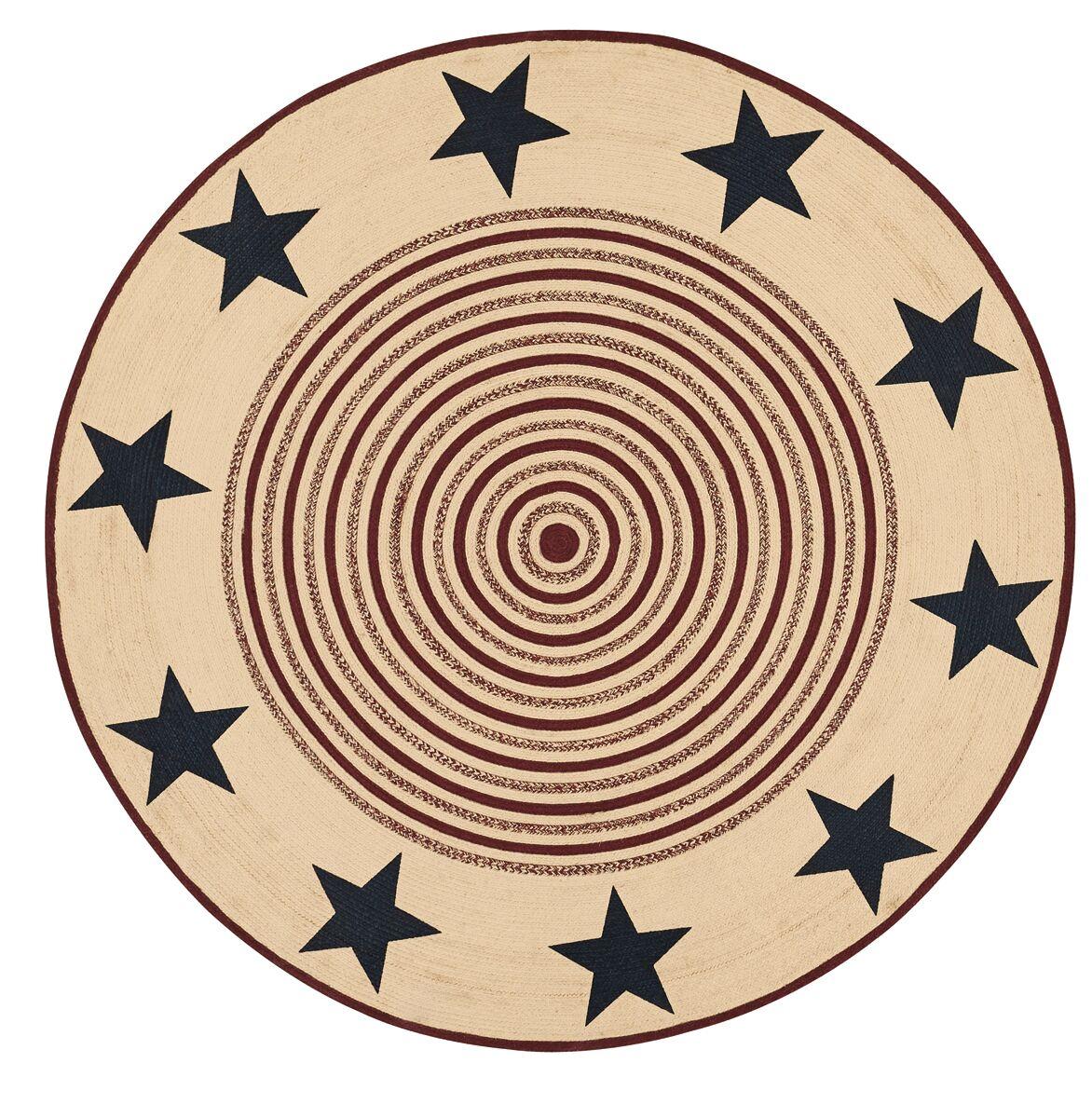 Brunswick Beige/Red Area Rug Rug Size: Round 8'
