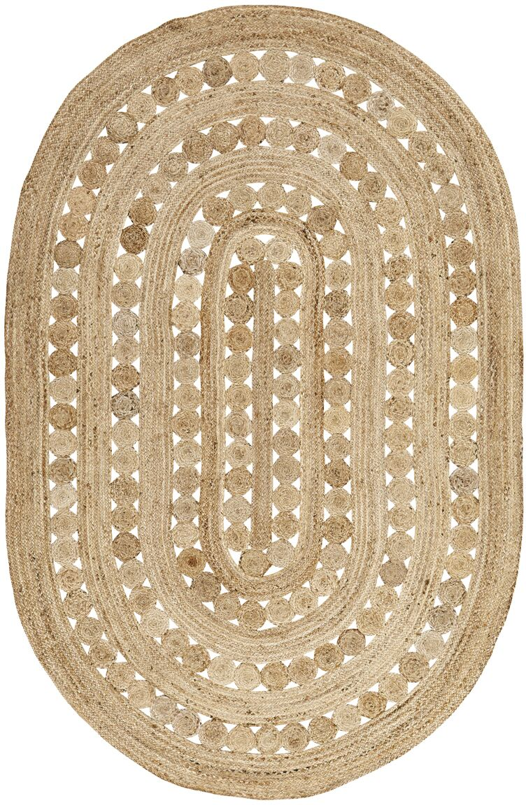 Flanagan Brown Area Rug Rug Size: Oval 6' x 9'