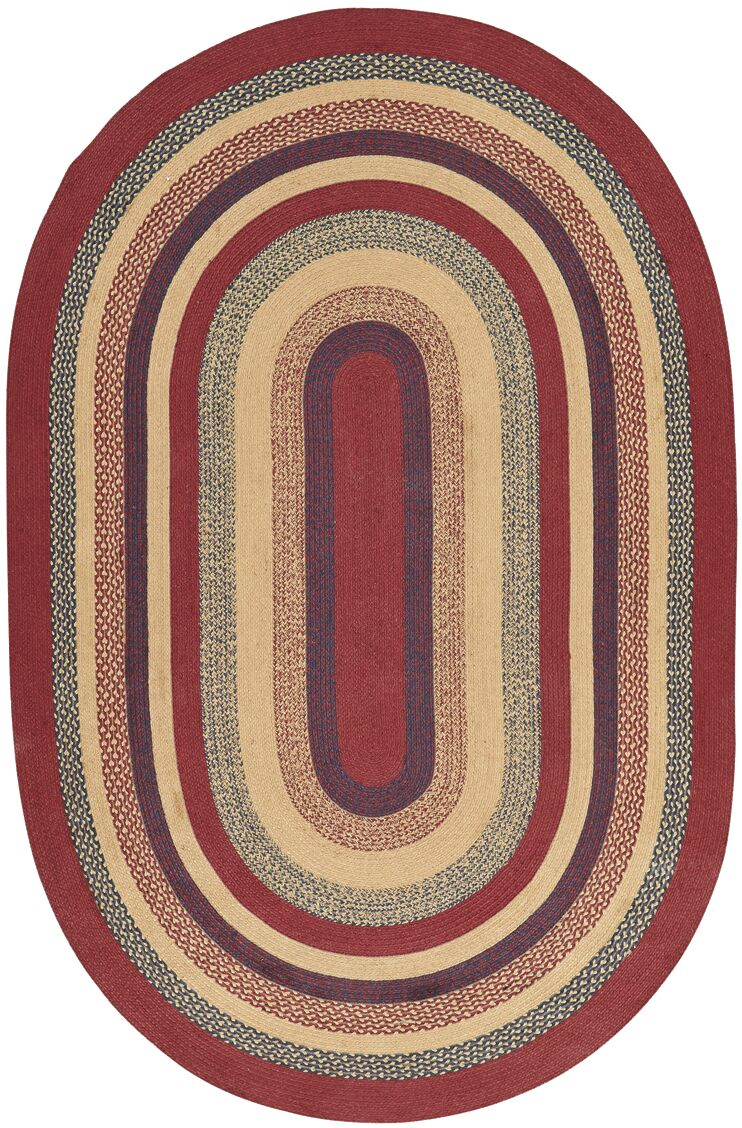 Pheobe Red/Brown Area Rug Rug Size: Oval 6' x 9'