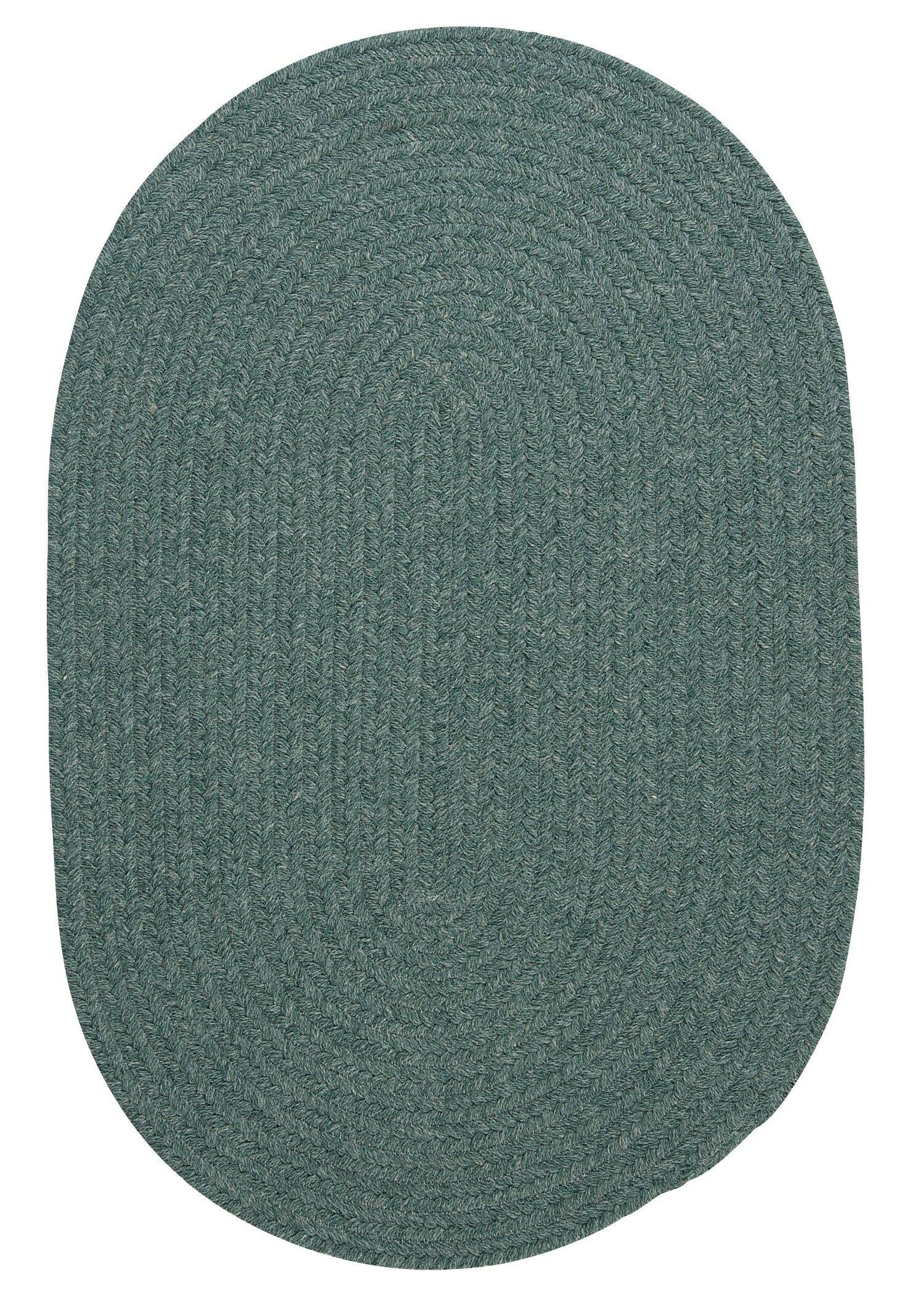 Navarrette Teal Area Rug Rug Size: Round 10'
