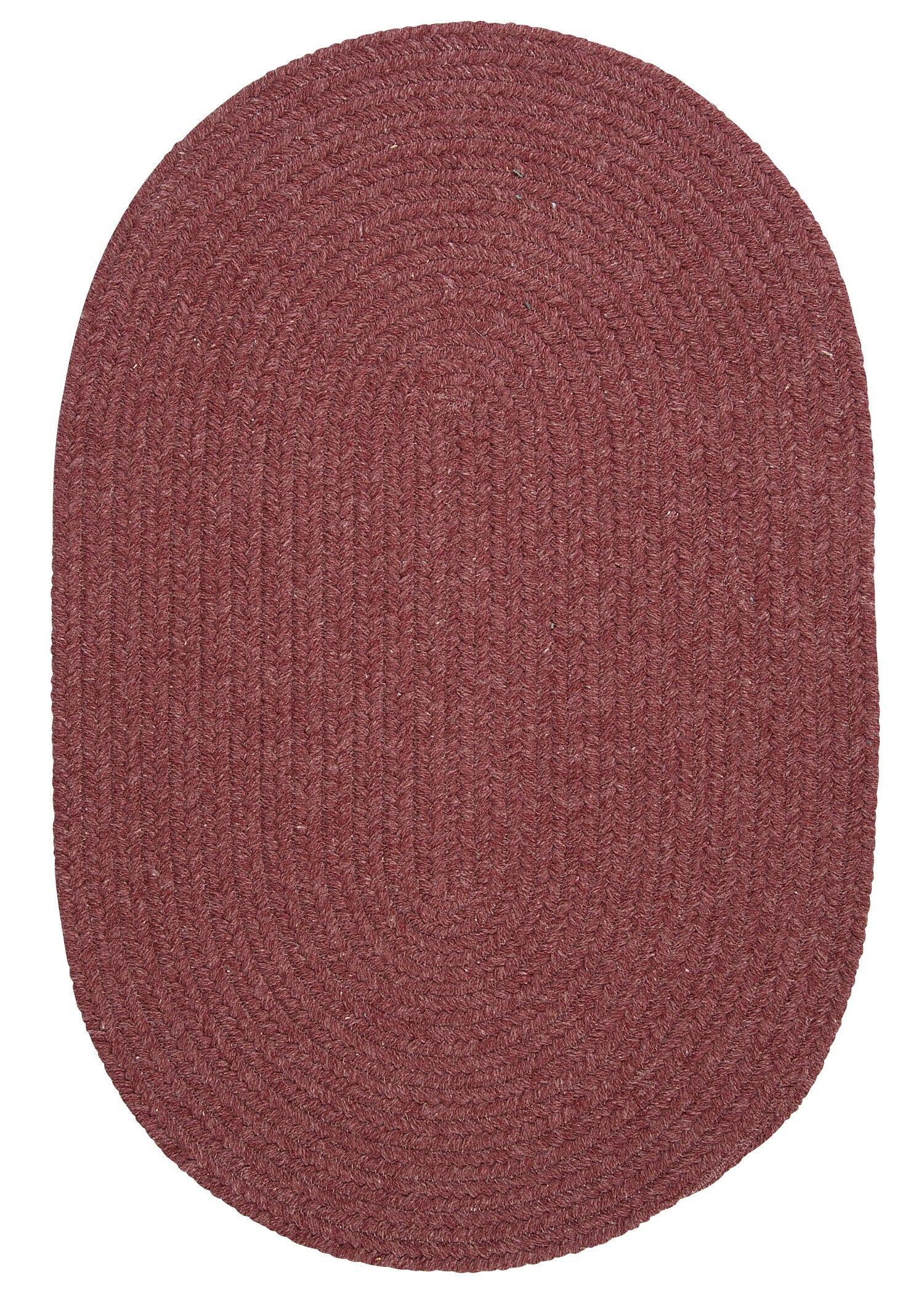 Navarrette Mauve Area Rug Rug Size: Round 6'