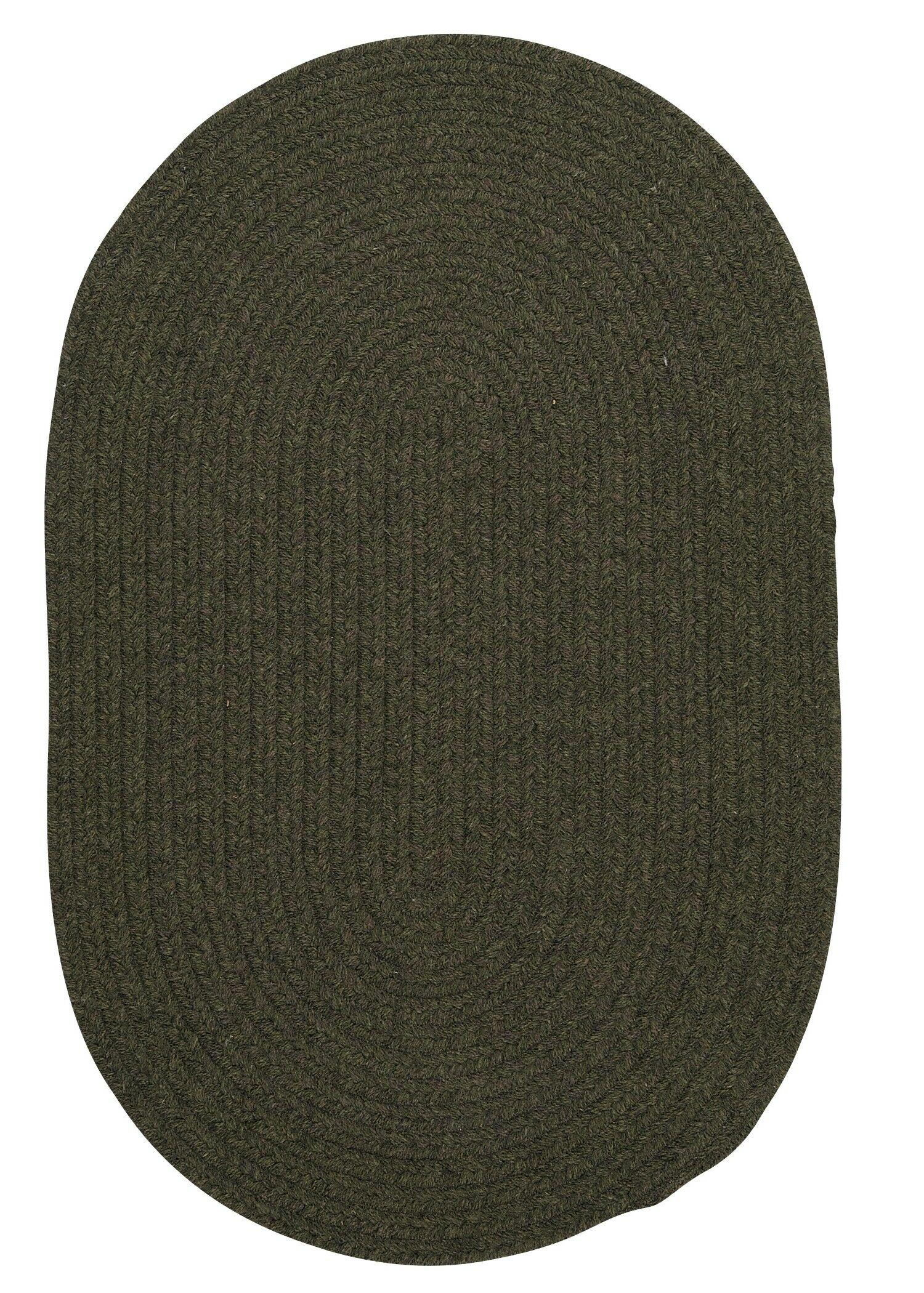 Navarrette Olive Area Rug Rug Size: Round 12'