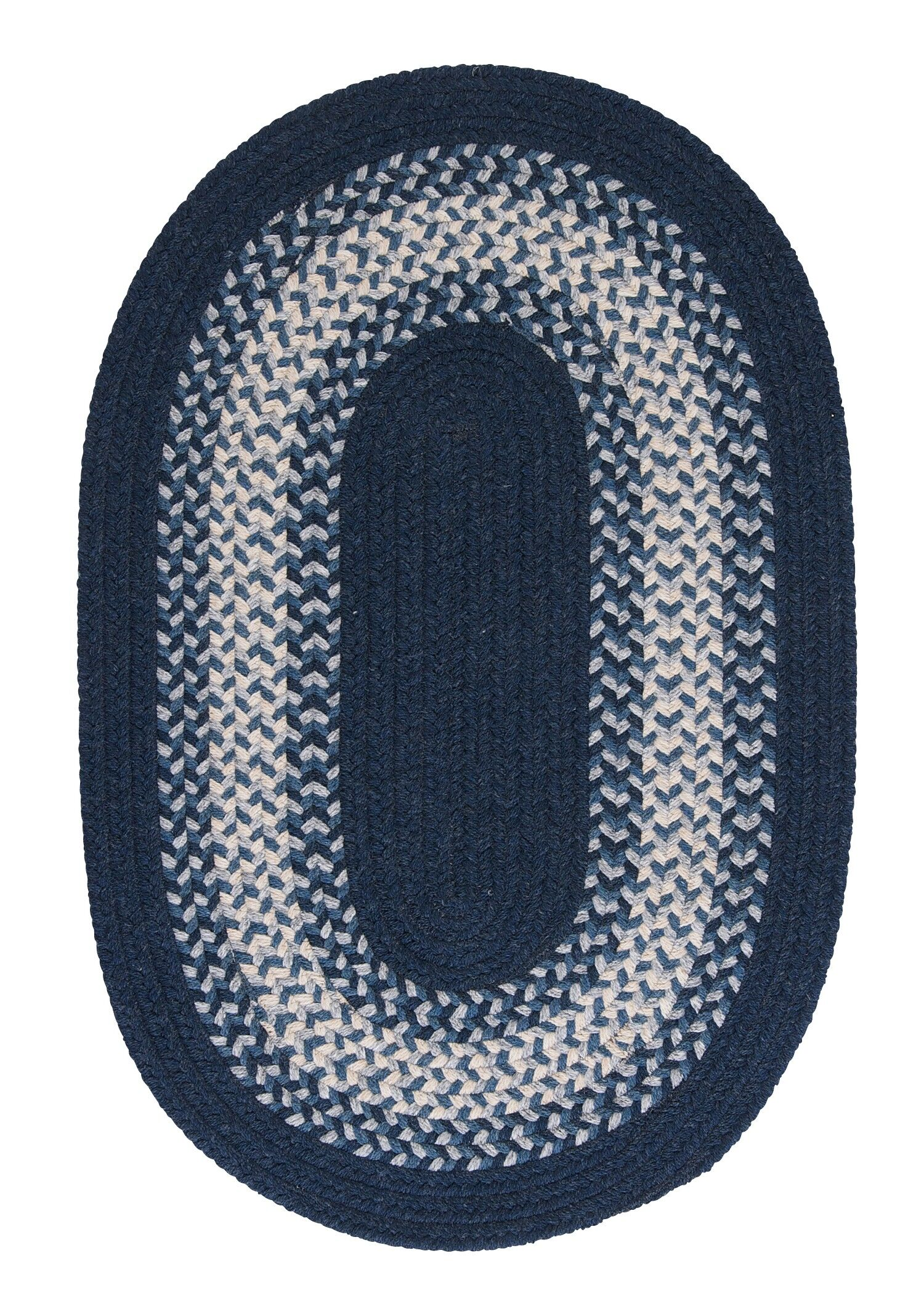Serafin Navy Area Rug Rug Size: Oval Runner 2' x 10'