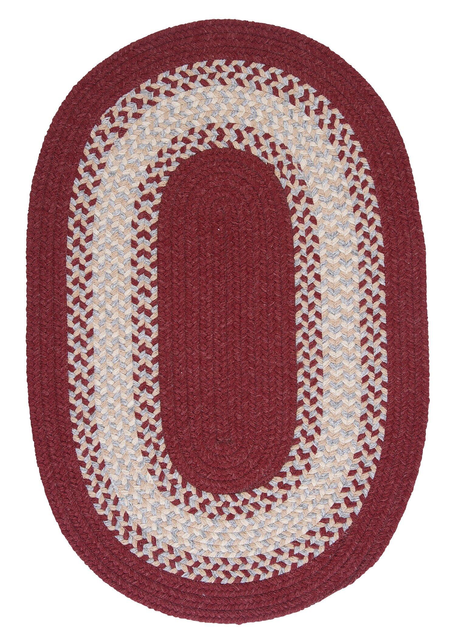 Serafin Berry Area Rug Rug Size: Oval 2' x 4'